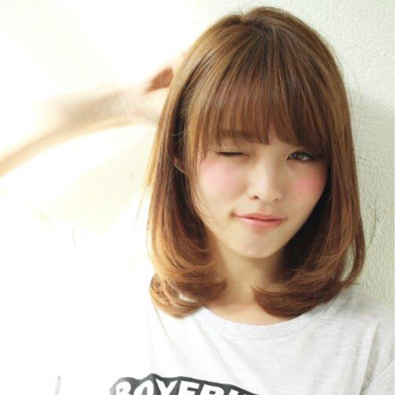 シースルーバング フェミニン 大人かわいい ナチュラル ヘアスタイルや髪型の写真・画像 | ボブで人気‼️ 増永 剛大/Un ami / Un ami omotesando