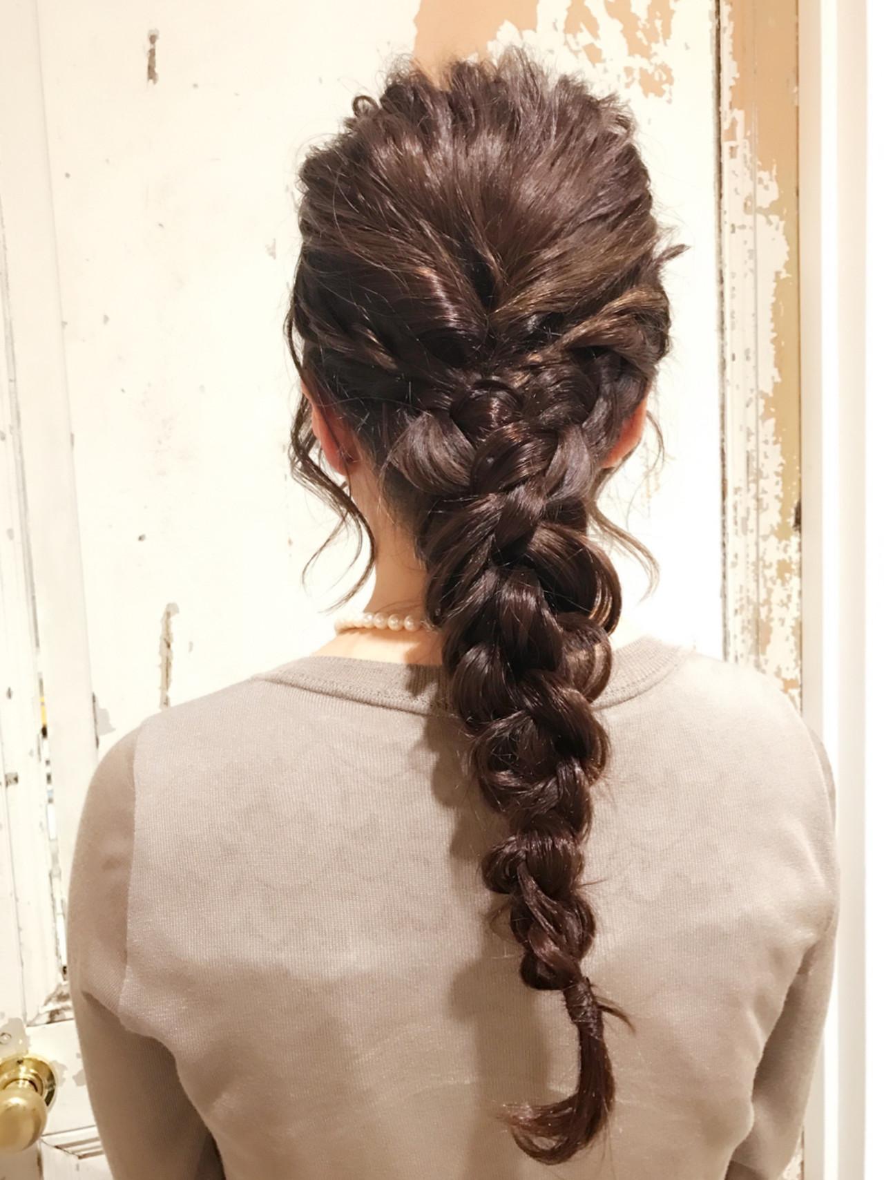 女子会 ヘアアレンジ 大人女子 ナチュラル ヘアスタイルや髪型の写真・画像 | KAE / NORA HAIR SALON