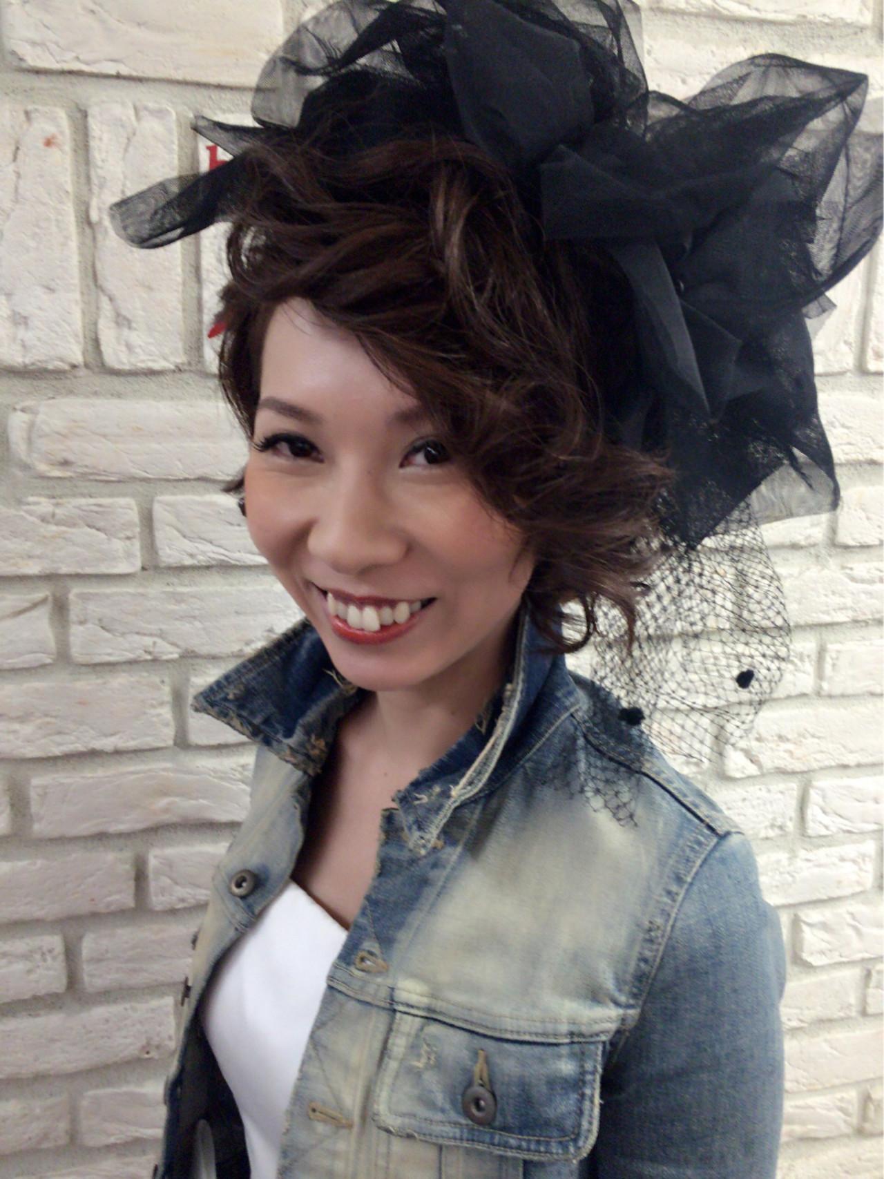 オレンジ ストリート ヘアアレンジ ブライダル ヘアスタイルや髪型の写真・画像 | 堂園知里 / hair Mission