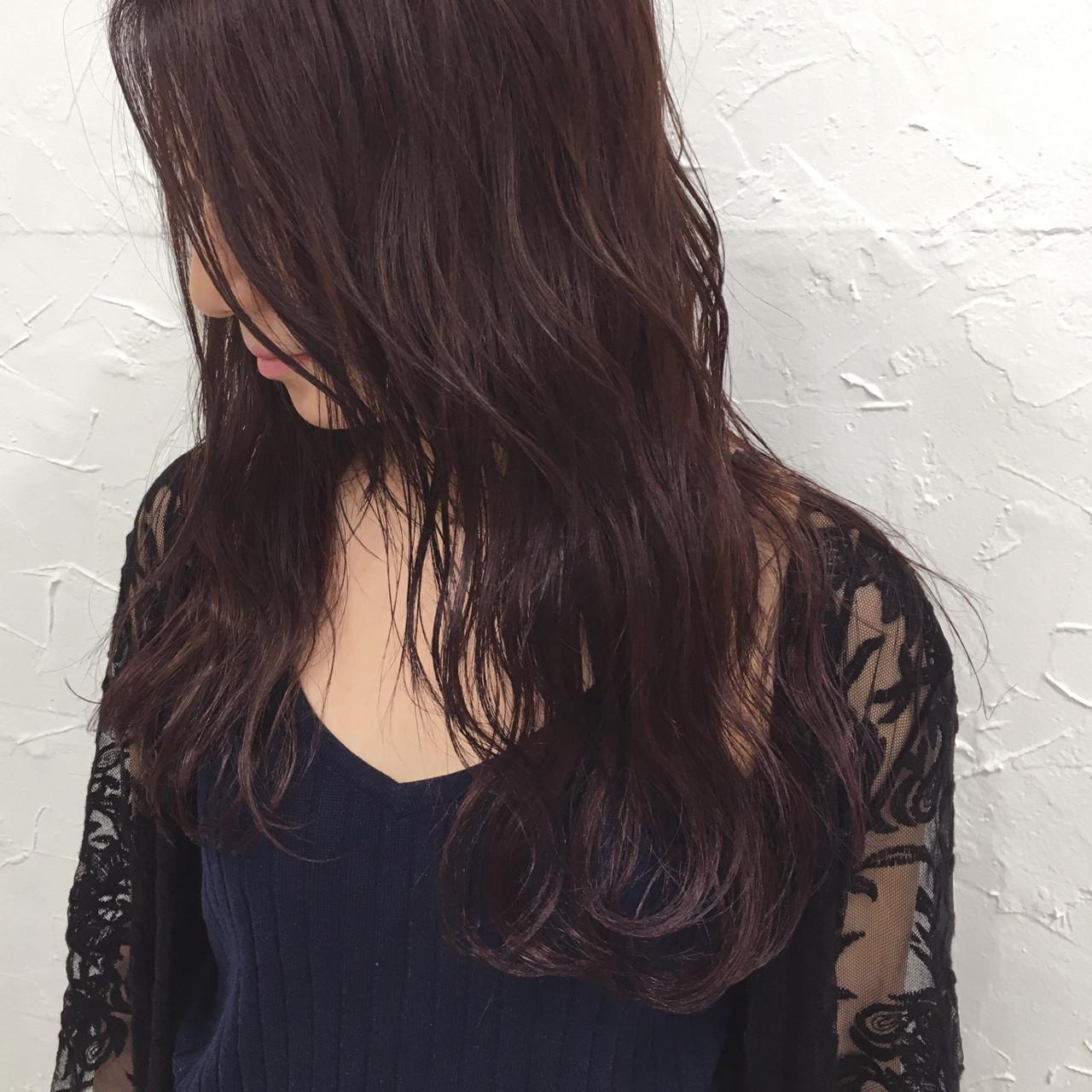 ウェーブ 外国人風 パープル 波ウェーブ ヘアスタイルや髪型の写真・画像 | 田中晋也 / prize(プライズ)表参道店