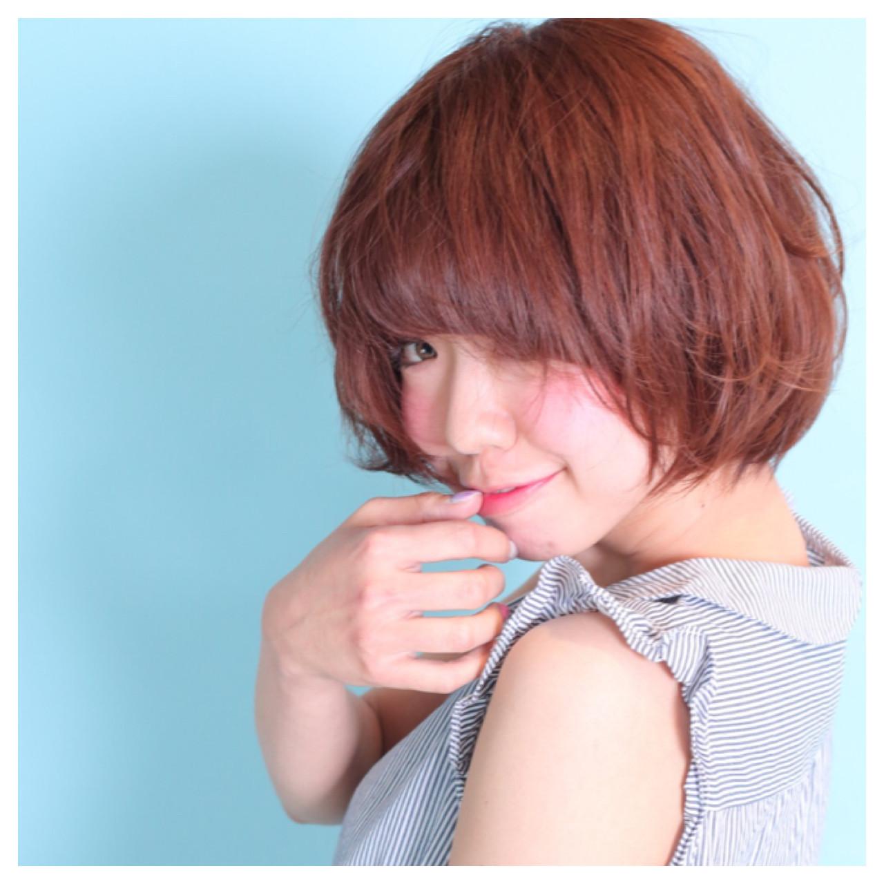 ゆるふわ ショート モテ髪 ガーリー ヘアスタイルや髪型の写真・画像   高橋和仁 / プロス 宮の前店