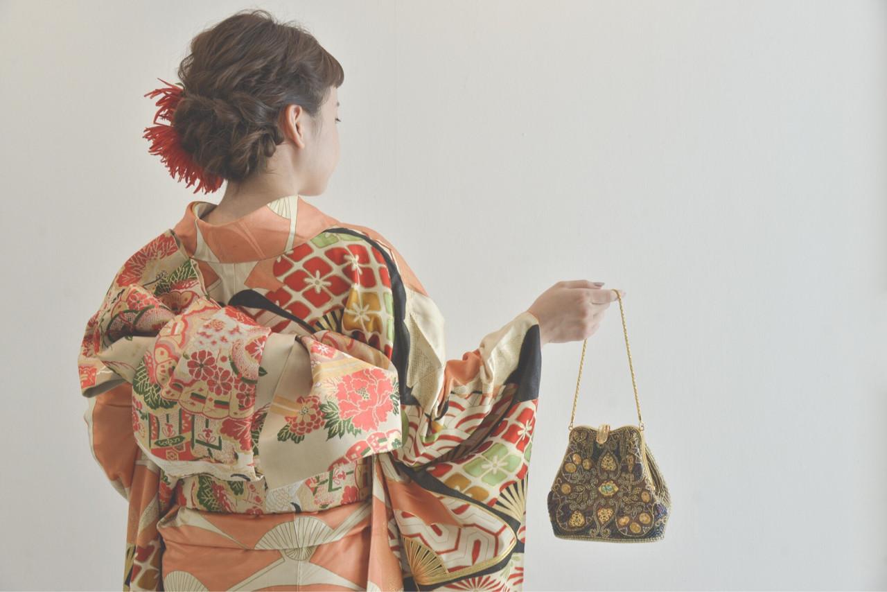 ガーリー アップスタイル 振袖 成人式 ヘアスタイルや髪型の写真・画像 | 瀬川秋香 / MINTMAISON