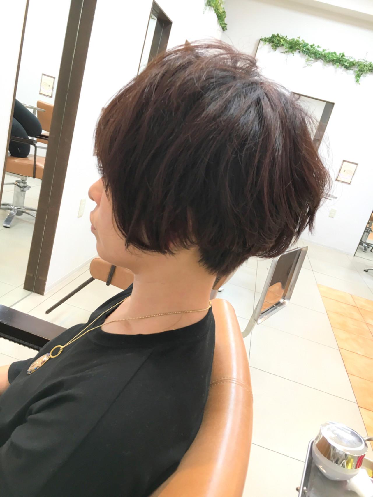 ショートボブ ショート 大人女子 モード ヘアスタイルや髪型の写真・画像