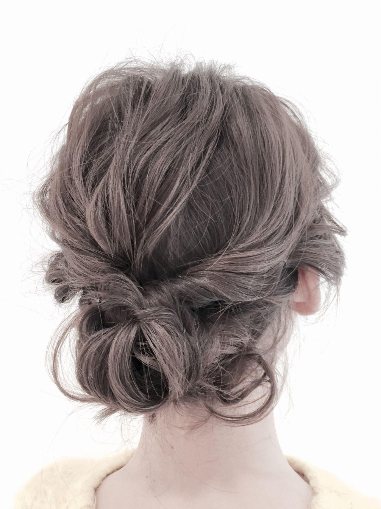 モテ髪 くるりんぱ コンサバ フェミニン ヘアスタイルや髪型の写真・画像