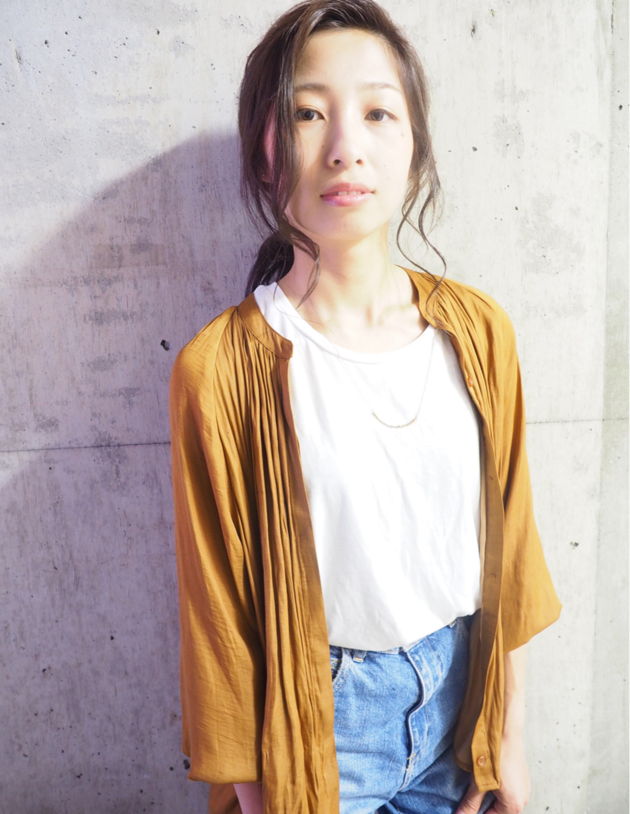 ミディアム 簡単ヘアアレンジ フェミニン ショート ヘアスタイルや髪型の写真・画像 | 和合 彩夏 / shelly
