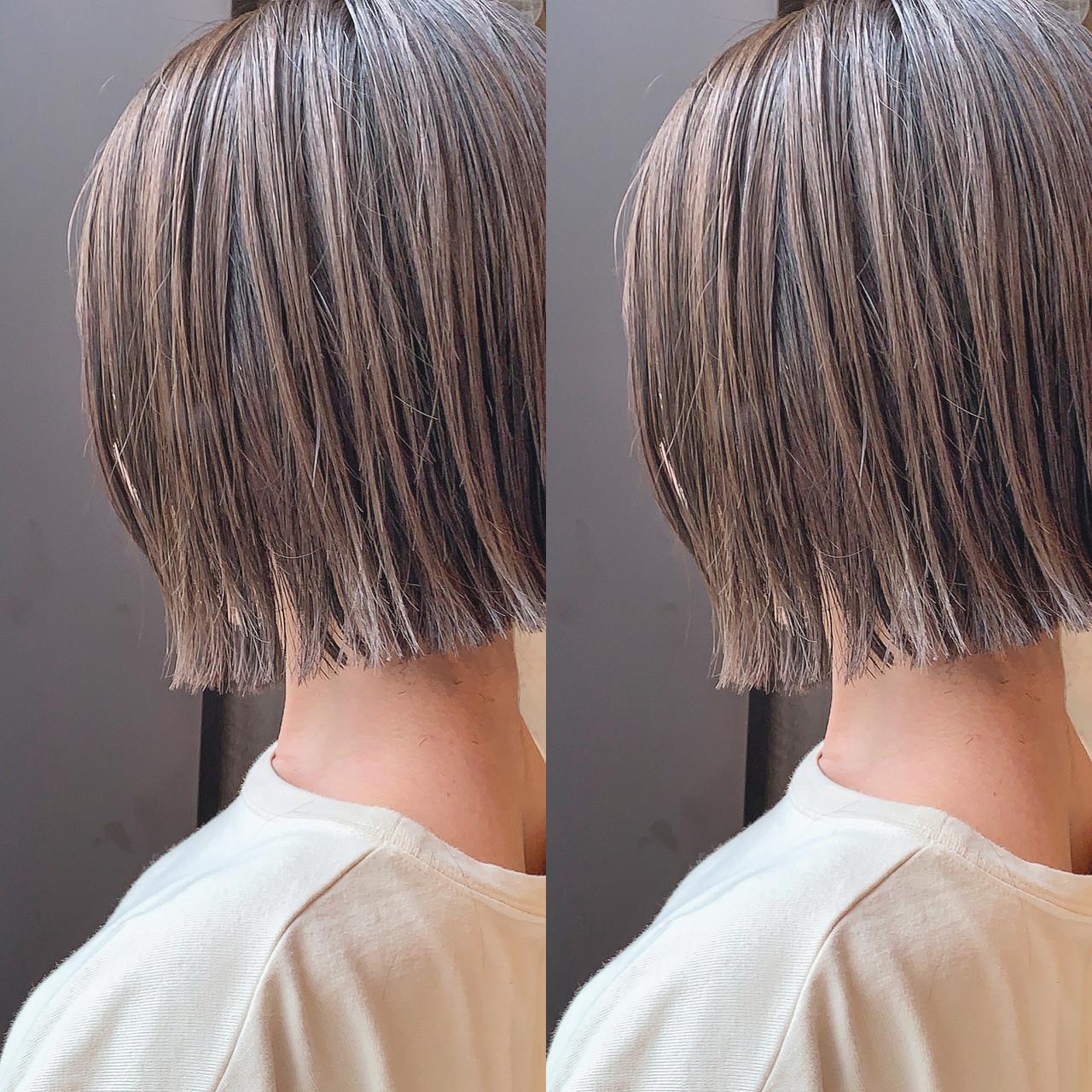 ショート ショートヘア ショートボブ ナチュラル ヘアスタイルや髪型の写真・画像