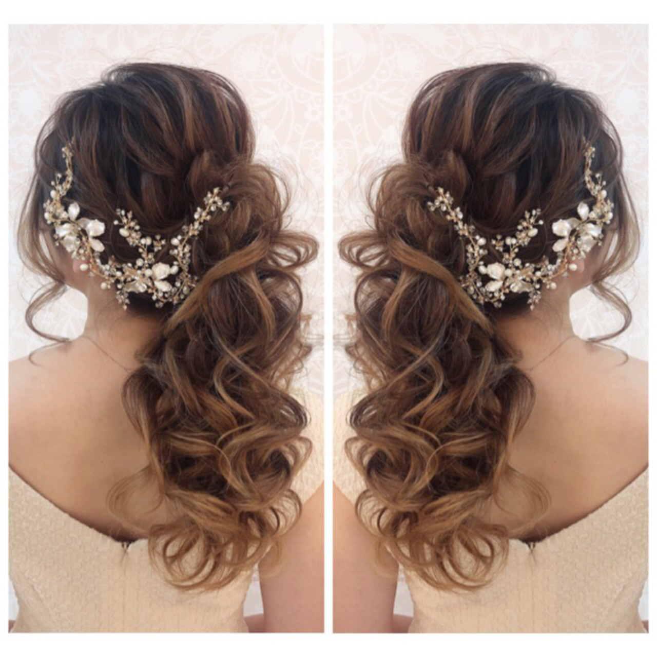 ナチュラル 花嫁 ヘアアレンジ ロング ヘアスタイルや髪型の写真・画像 | amico/佐藤 友理 / AMICO