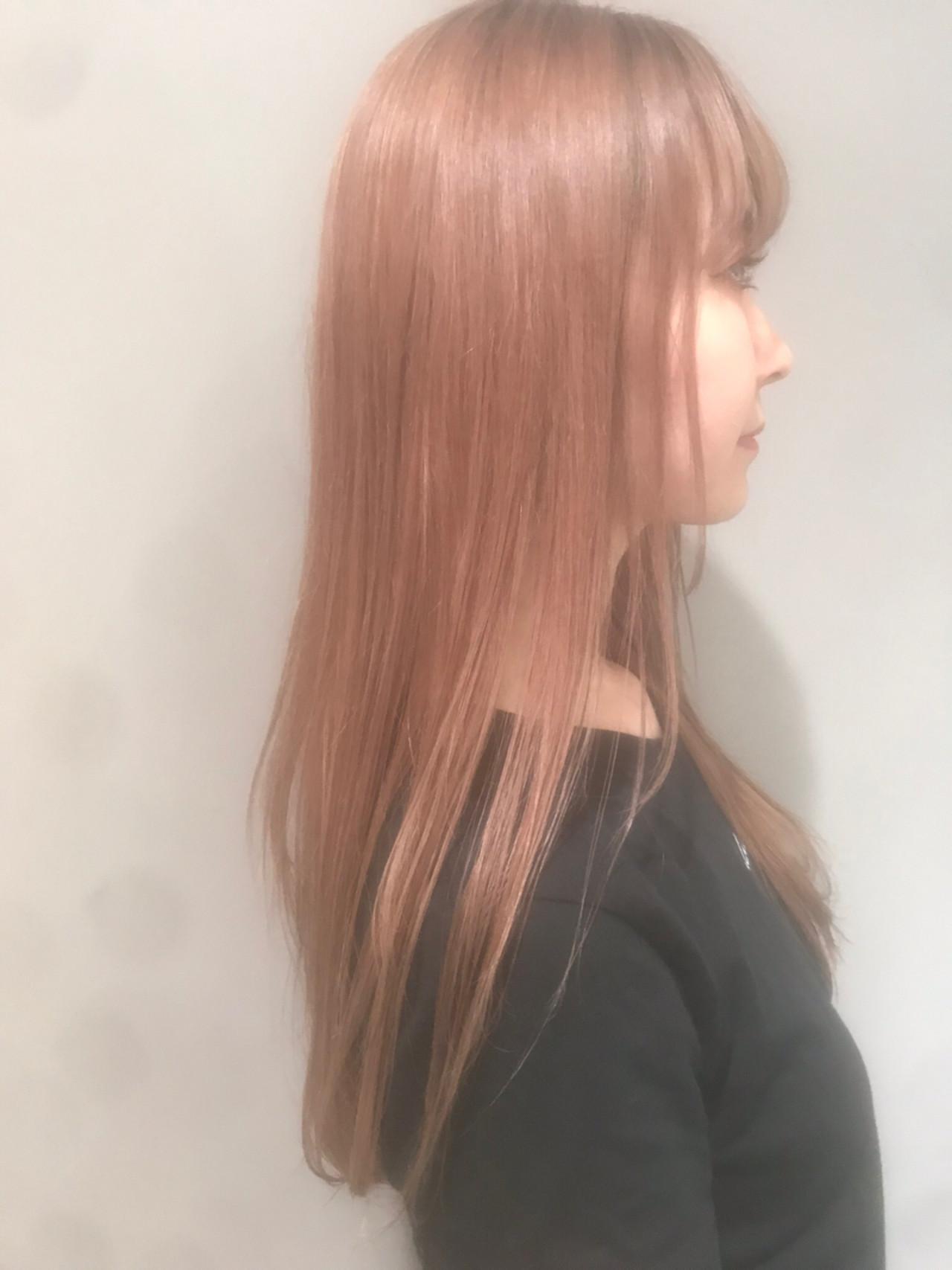 外国人風カラー 抜け感 ピンク 透明感 ヘアスタイルや髪型の写真・画像 | Rie Akita / LOAVE omotesando