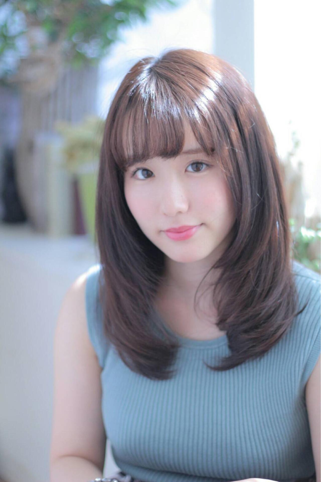 ゆるふわ 伸ばしかけ フェミニン セミロング ヘアスタイルや髪型の写真・画像 | 堀内 千恵子 / S-style トータルビューティーサロン