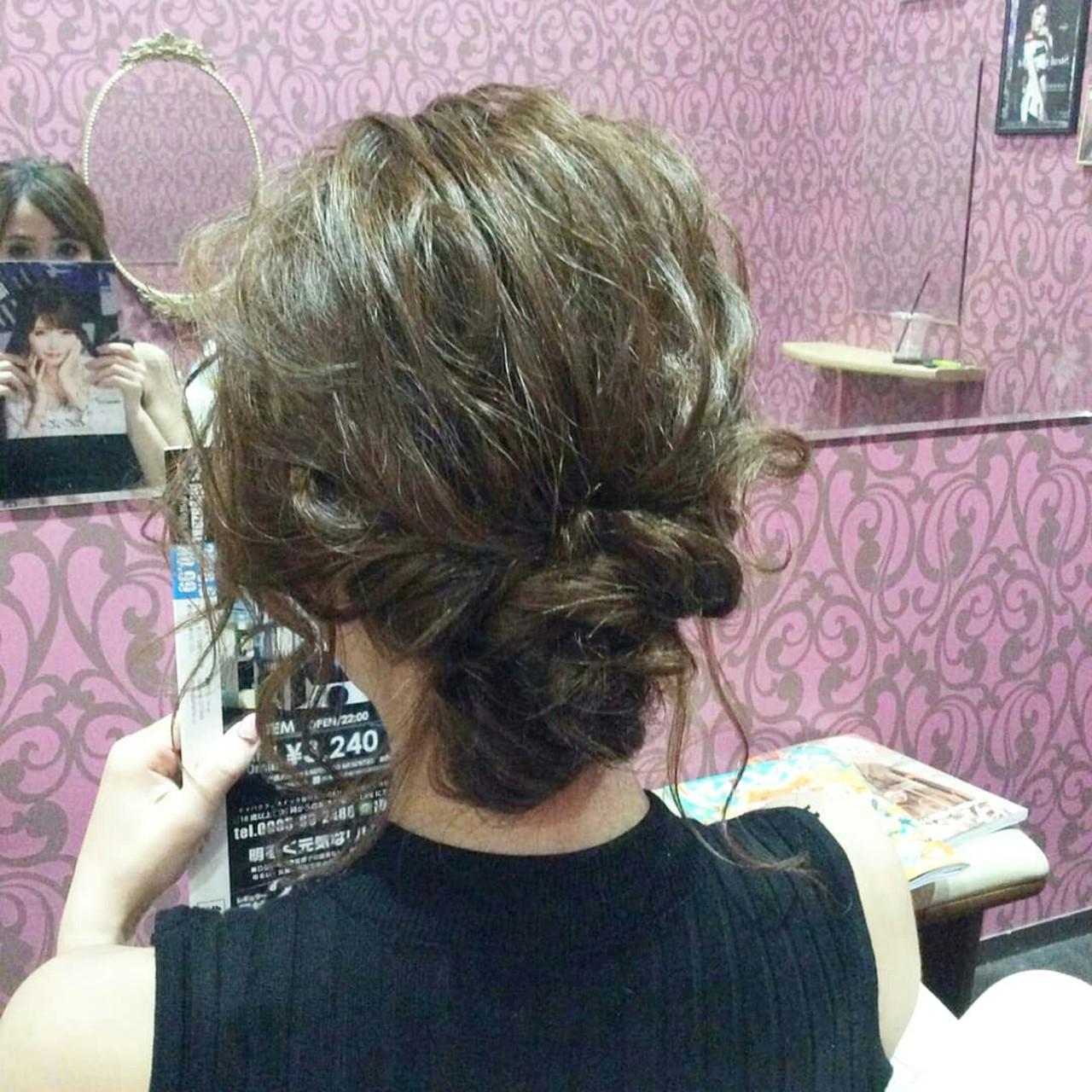 エレガント 上品 ミディアム 結婚式 ヘアスタイルや髪型の写真・画像 | rumiLINKS美容室 / リンクス美容室
