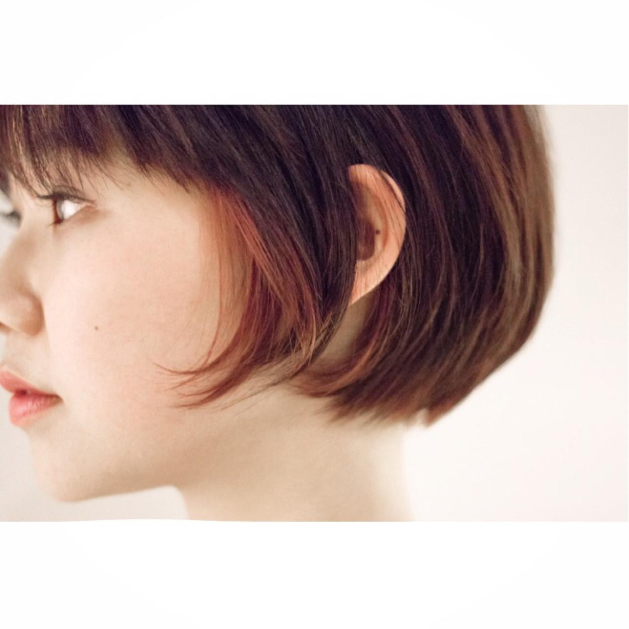 ショートボブ ショート 似合わせ ダブルカラー ヘアスタイルや髪型の写真・画像