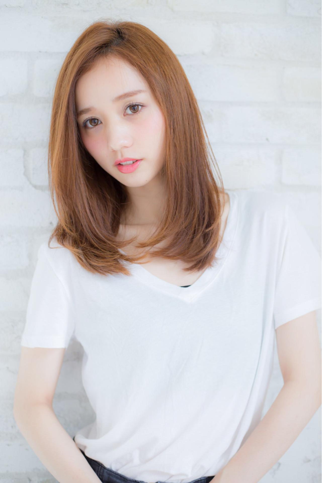 ニュアンス 小顔 ミディアム 大人女子 ヘアスタイルや髪型の写真・画像 | 赤井希望 / joemibyUnami