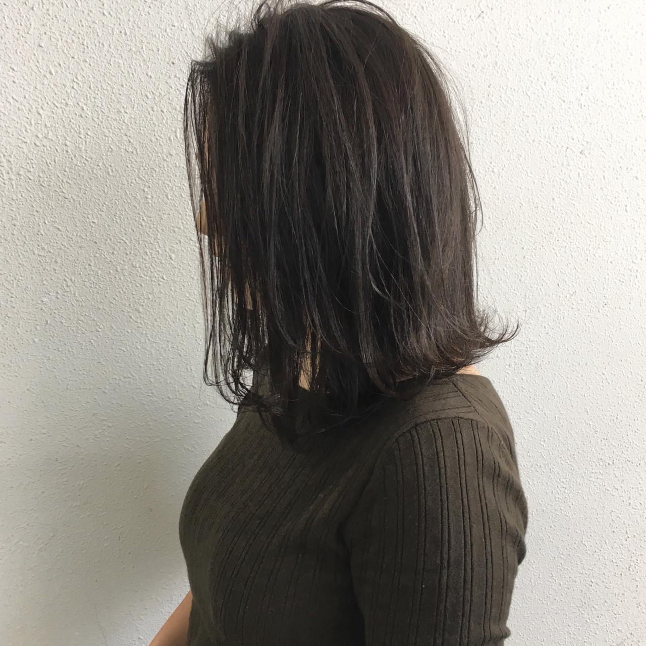 ボブ ナチュラル ミディアム ロブ ヘアスタイルや髪型の写真・画像 | 木下裕貴 / totti hair design