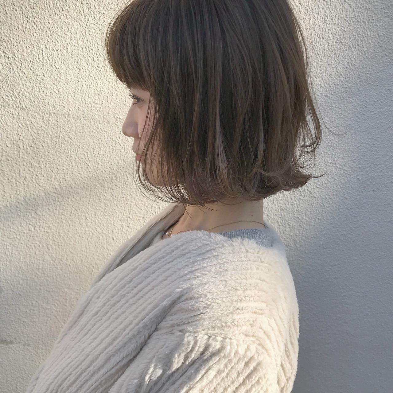 切りっぱなし ハイライト ナチュラル こなれ感 ヘアスタイルや髪型の写真・画像 | KENTO.NOESALON / NOE SALON