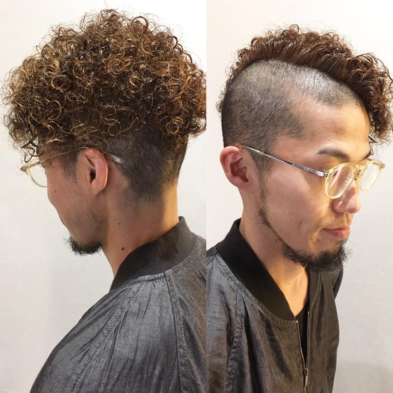 ストリート メンズ パーマ ショート ヘアスタイルや髪型の写真・画像   元橋啓太 / snob
