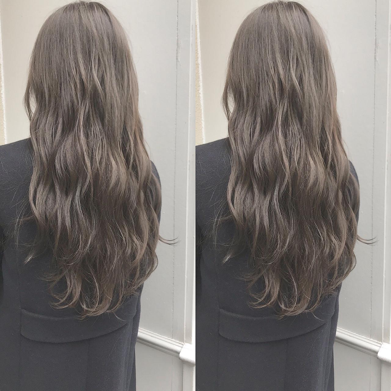 アッシュ 透明感 外国人風 グレージュ ヘアスタイルや髪型の写真・画像 | SHUN / NOE SALON