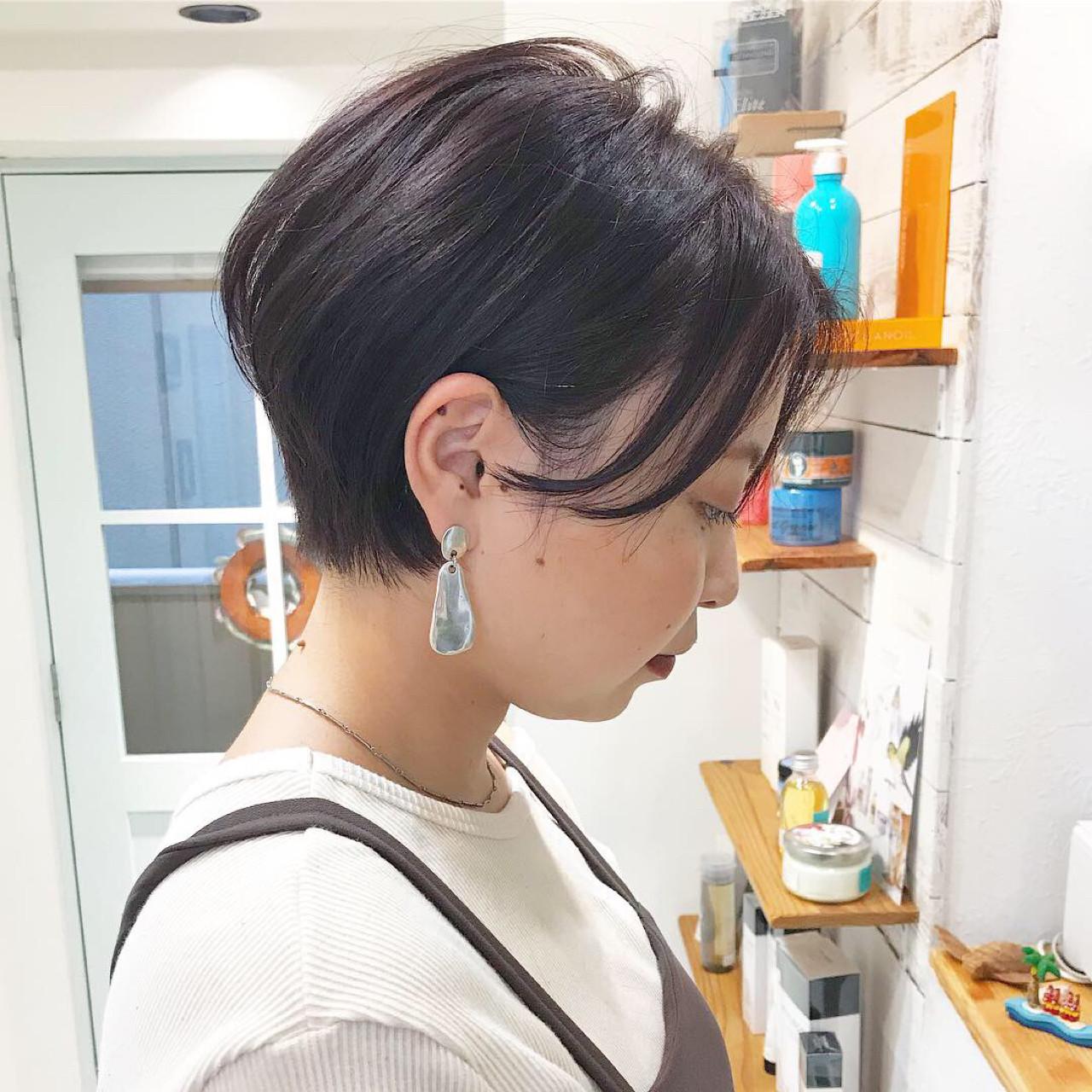 小顔 ナチュラル 似合わせ ショート ヘアスタイルや髪型の写真・画像 | 溝口優人 / Coast.