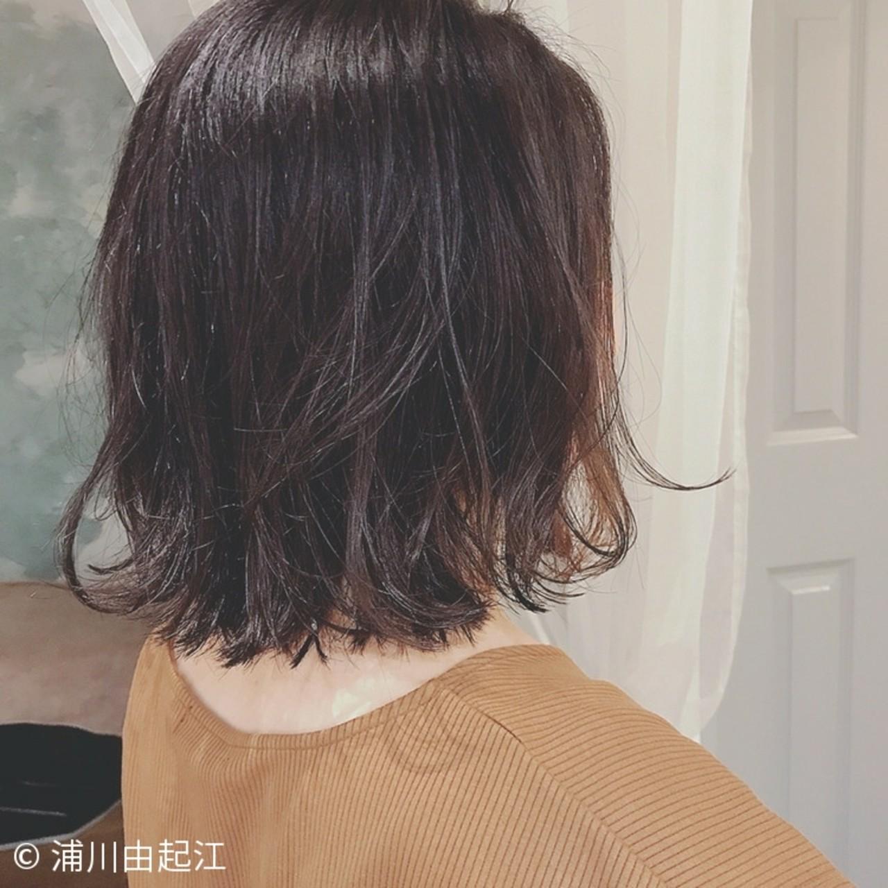 ゆるふわ 大人かわいい オフィス ナチュラル ヘアスタイルや髪型の写真・画像 | 浦川由起江 / nanon