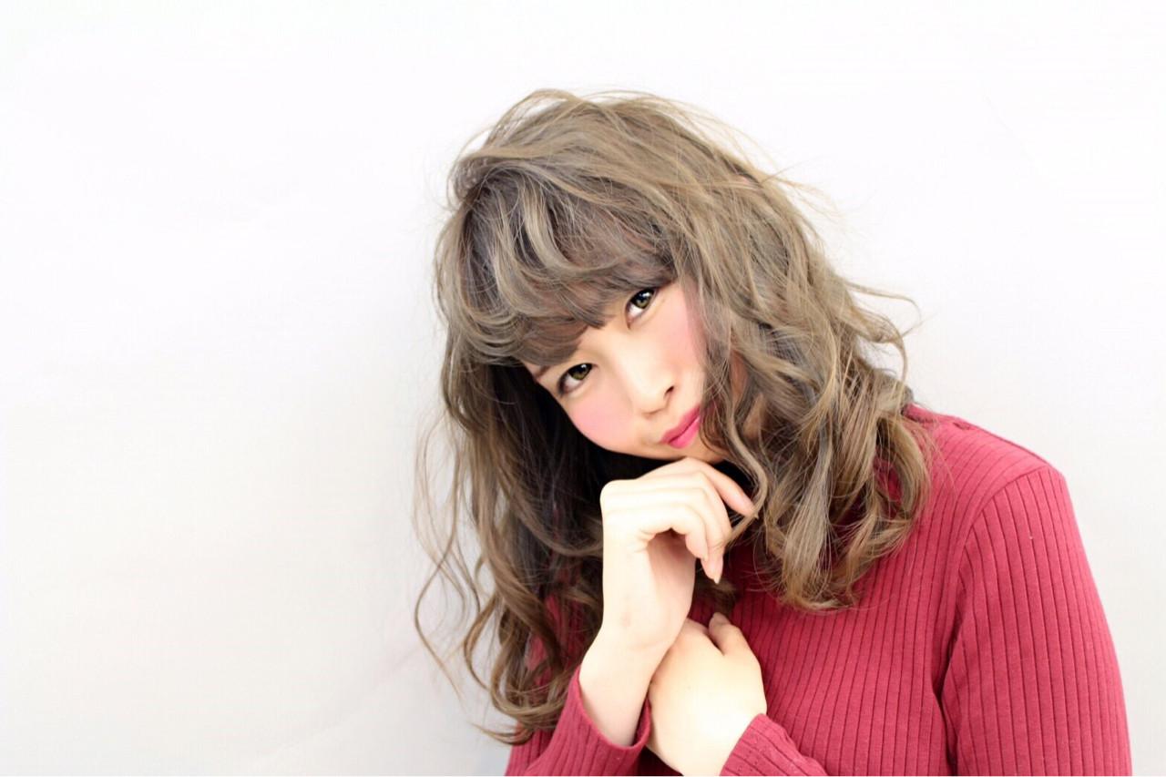 透明感 大人女子 ガーリー カール ヘアスタイルや髪型の写真・画像