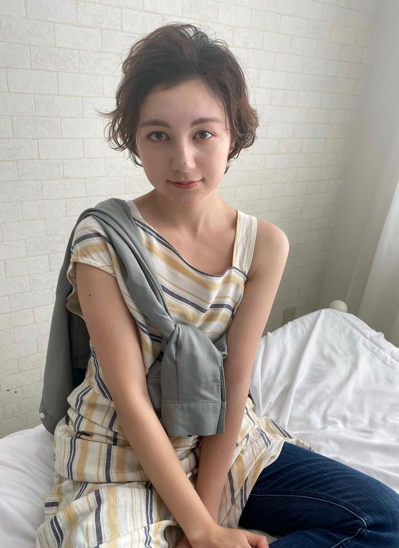 パーマ ナチュラル 大人かわいい 大人カジュアル ヘアスタイルや髪型の写真・画像 | Mirai / enntaku