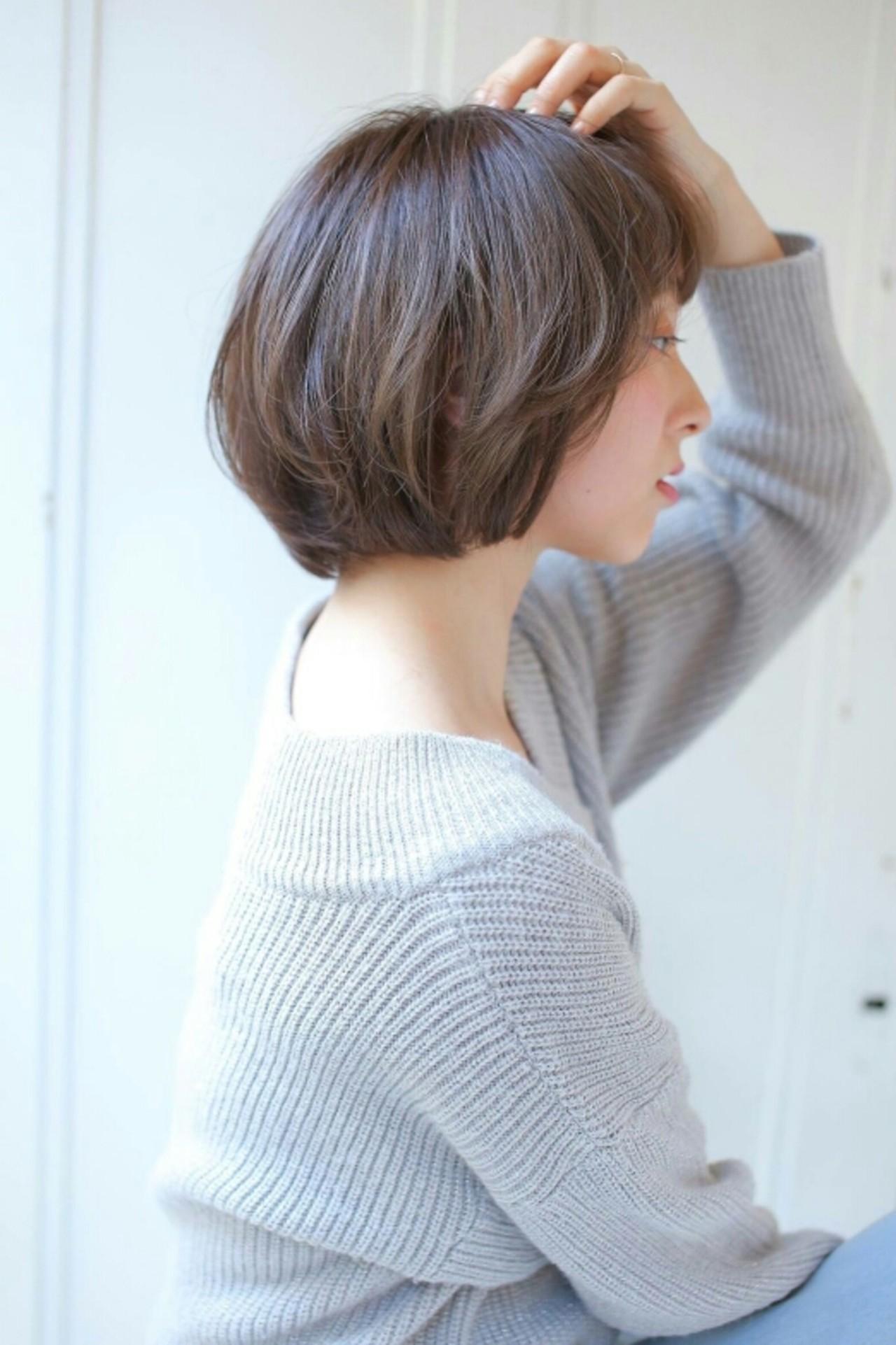 透明感 ワンカール アッシュ 大人かわいい ヘアスタイルや髪型の写真・画像