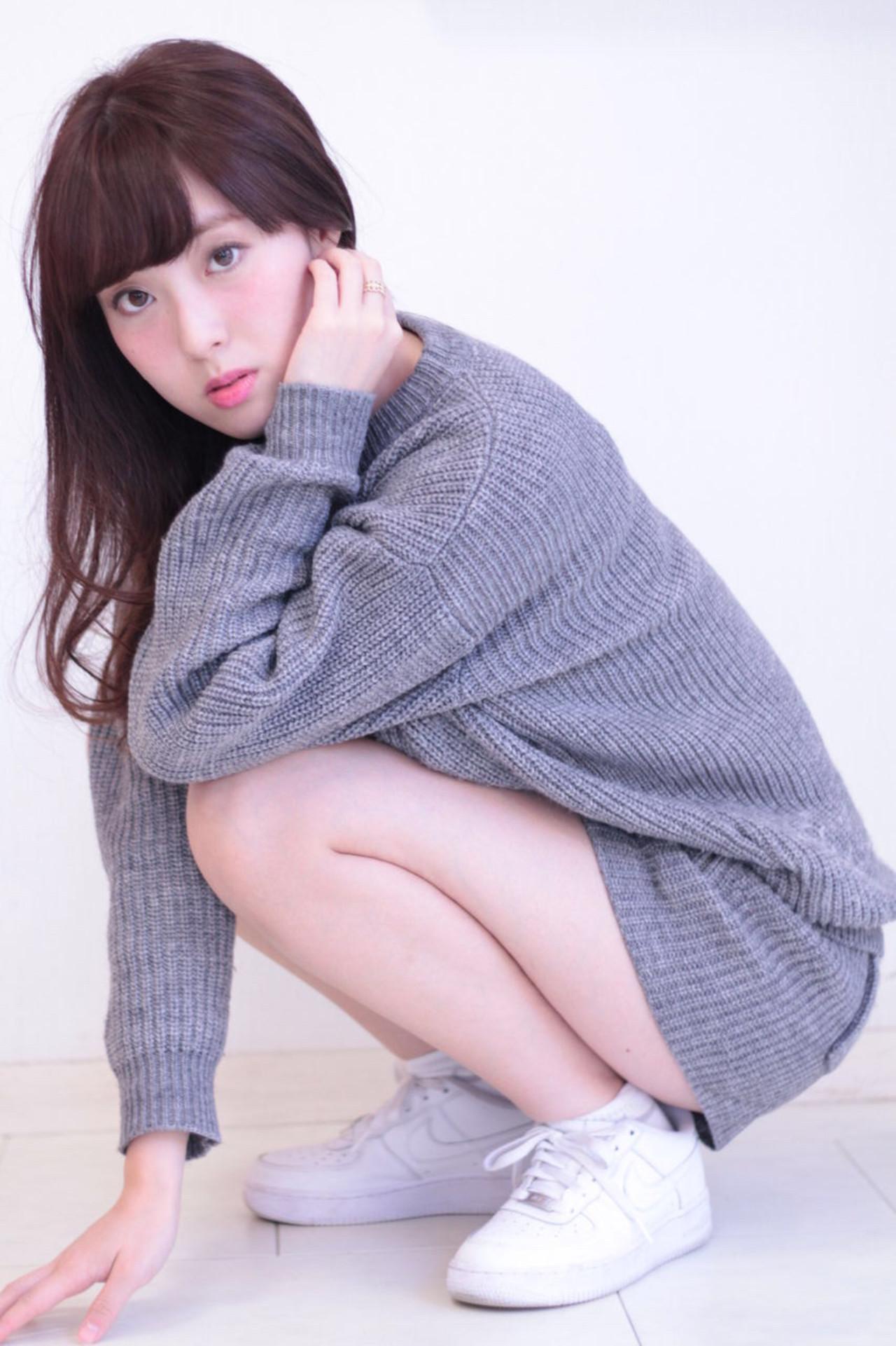 ロング アッシュ ナチュラル 外国人風 ヘアスタイルや髪型の写真・画像 | 相澤雄大 / insence用賀店