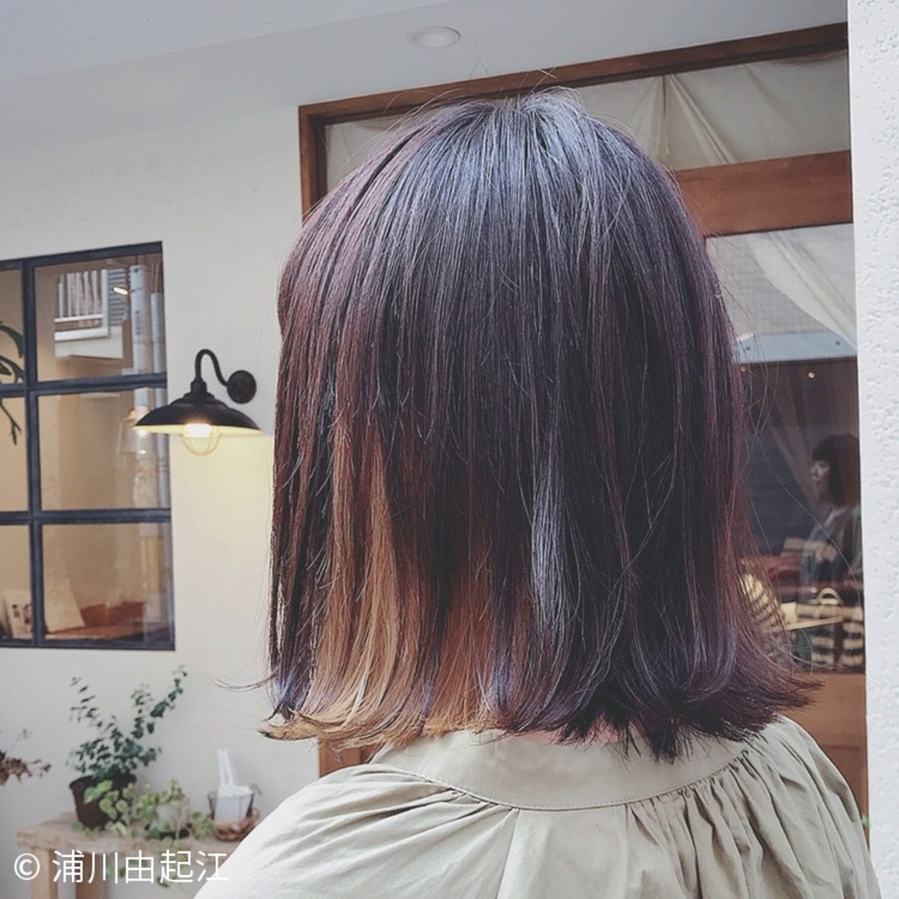 インナーカラー ナチュラル デート ハイライト ヘアスタイルや髪型の写真・画像