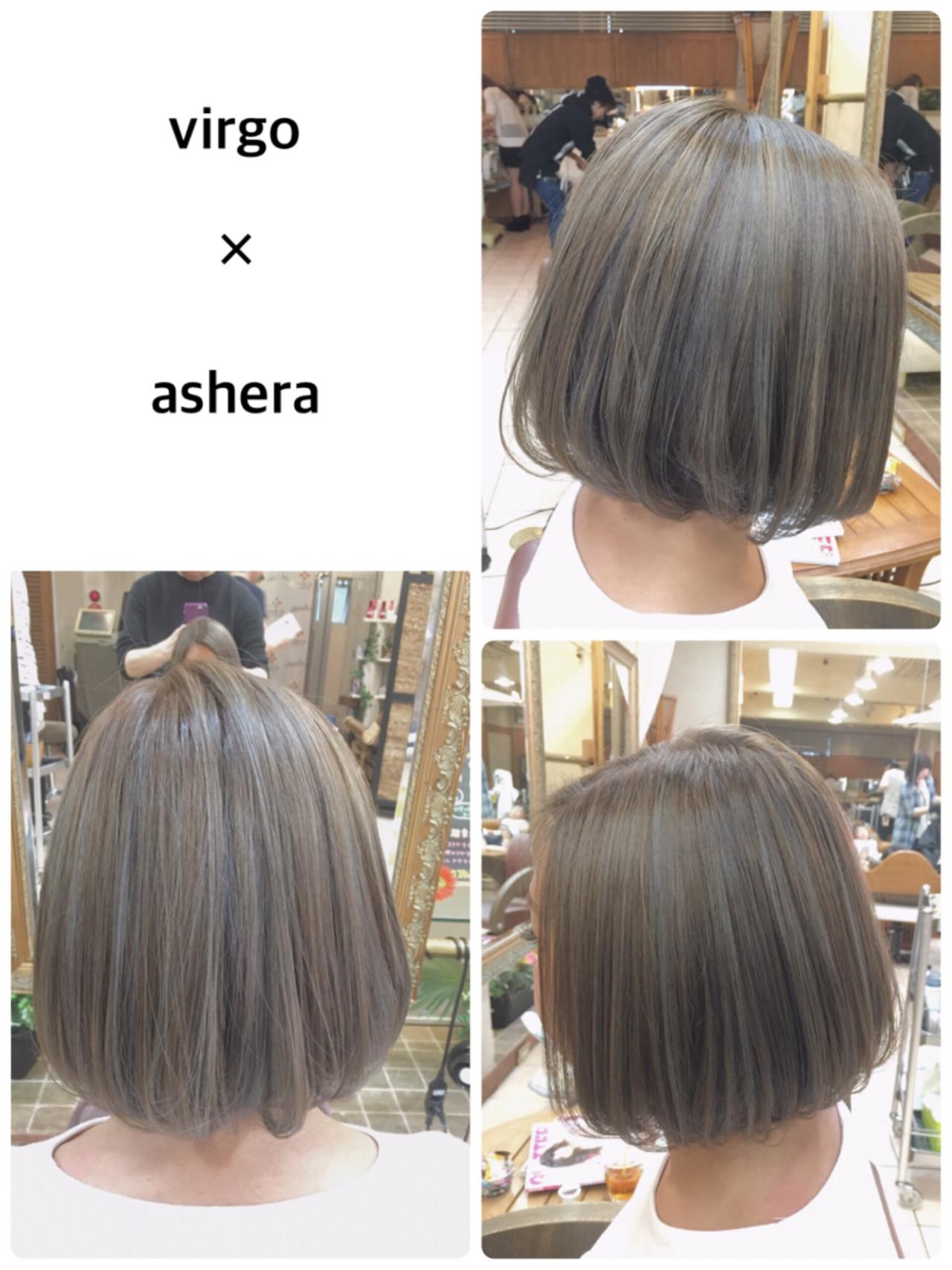グレージュ 3Dカラー ハイライト 外国人風カラー ヘアスタイルや髪型の写真・画像 | 西村巧 / virgo