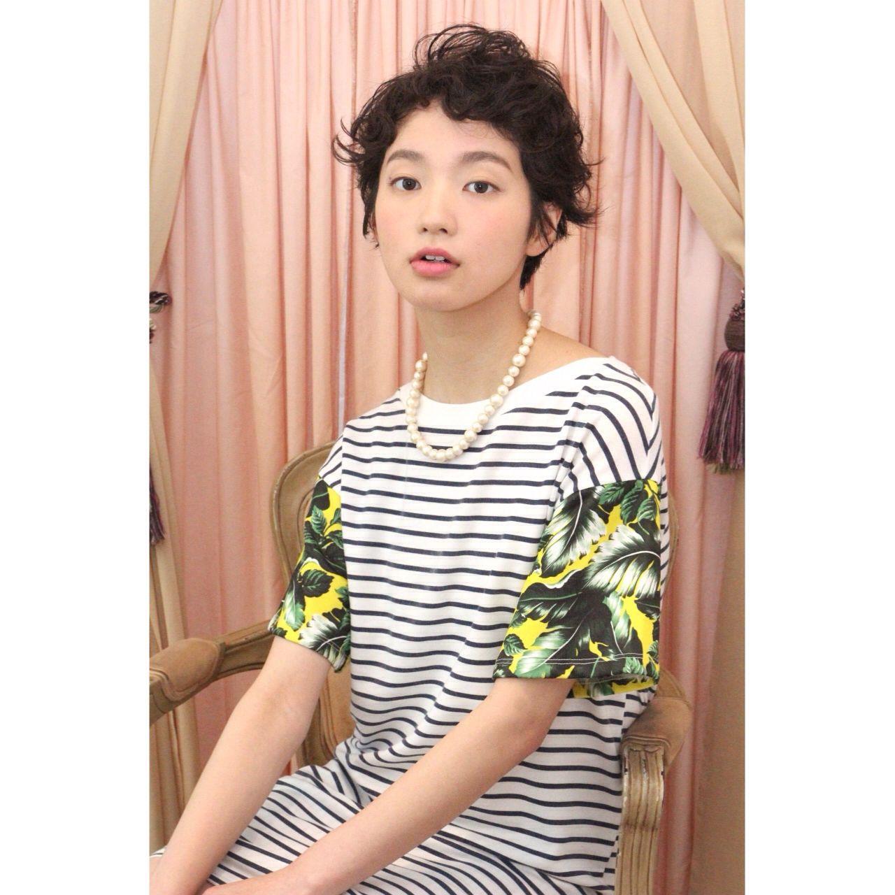 ナチュラル 大人かわいい モード ベリーショート ヘアスタイルや髪型の写真・画像 | Aya_Acotto / Acotto La'bas