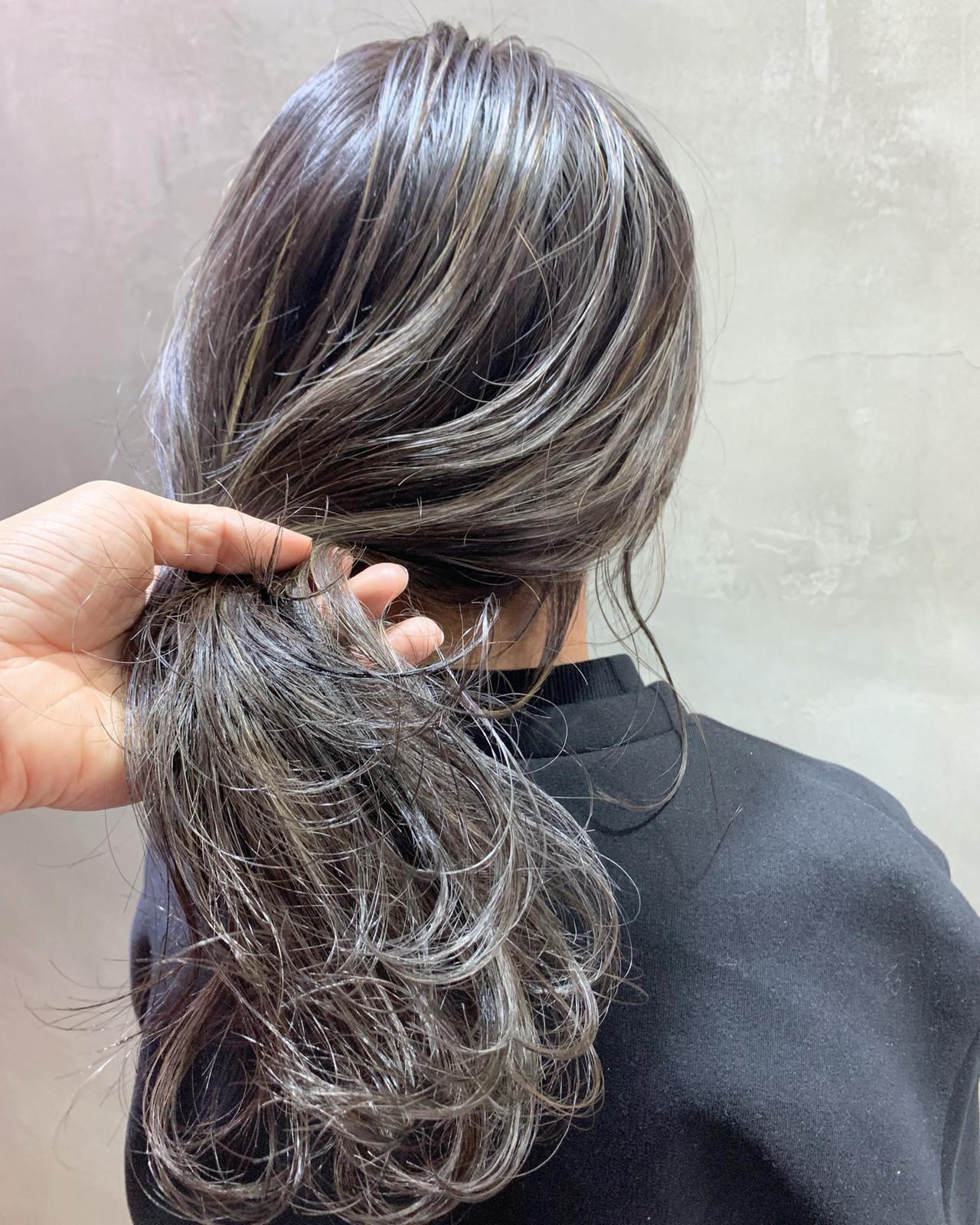 ストリート ハイライト 3Dハイライト ロング ヘアスタイルや髪型の写真・画像 | 阪下 裕紀 / フリーランス /SALOWIN