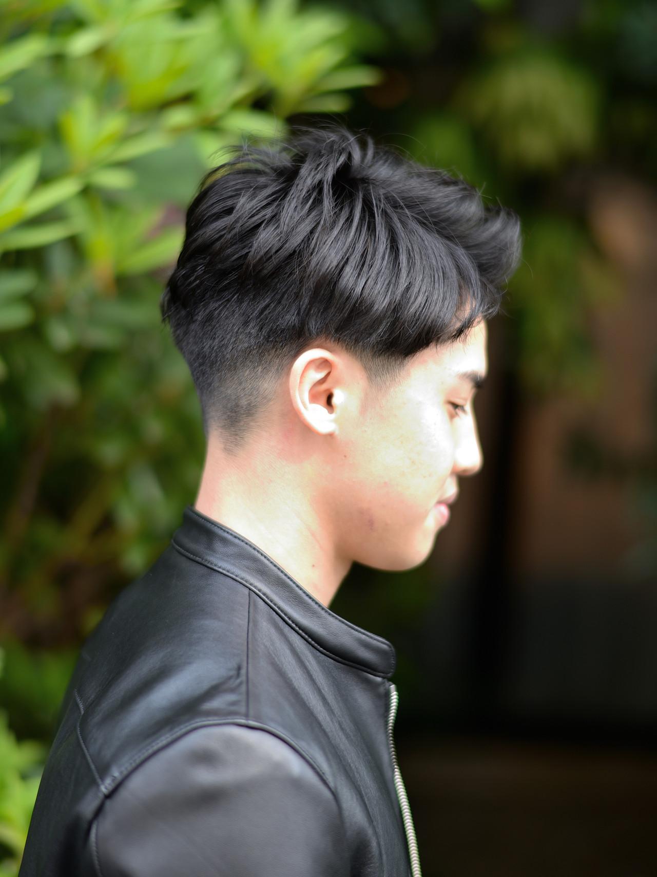 メンズショート メンズ ショート 黒髪 ヘアスタイルや髪型の写真・画像 | 常盤 大地 ウミトス / ウミトス表参道