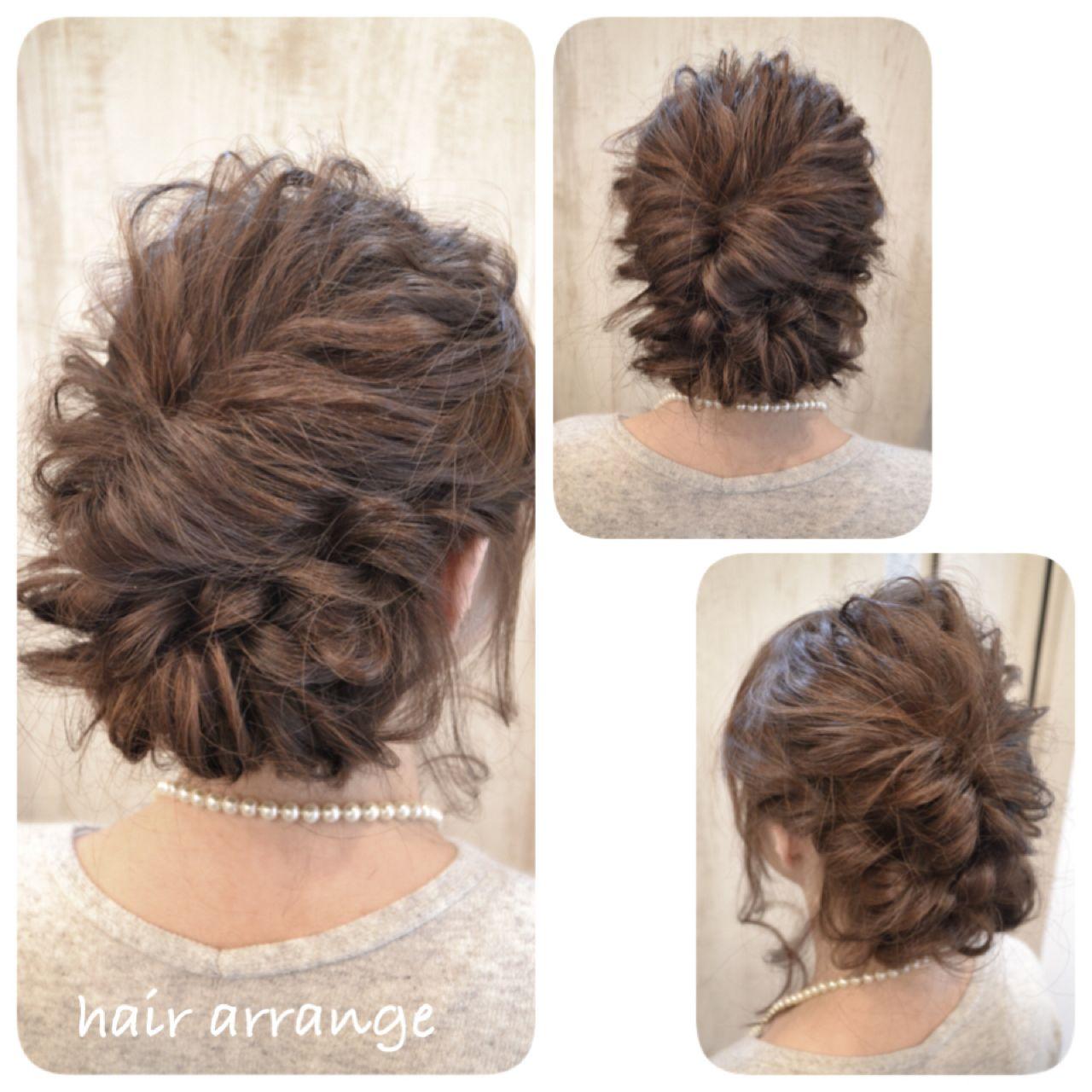 ヘアアレンジ フェミニン コンサバ 簡単ヘアアレンジ ヘアスタイルや髪型の写真・画像