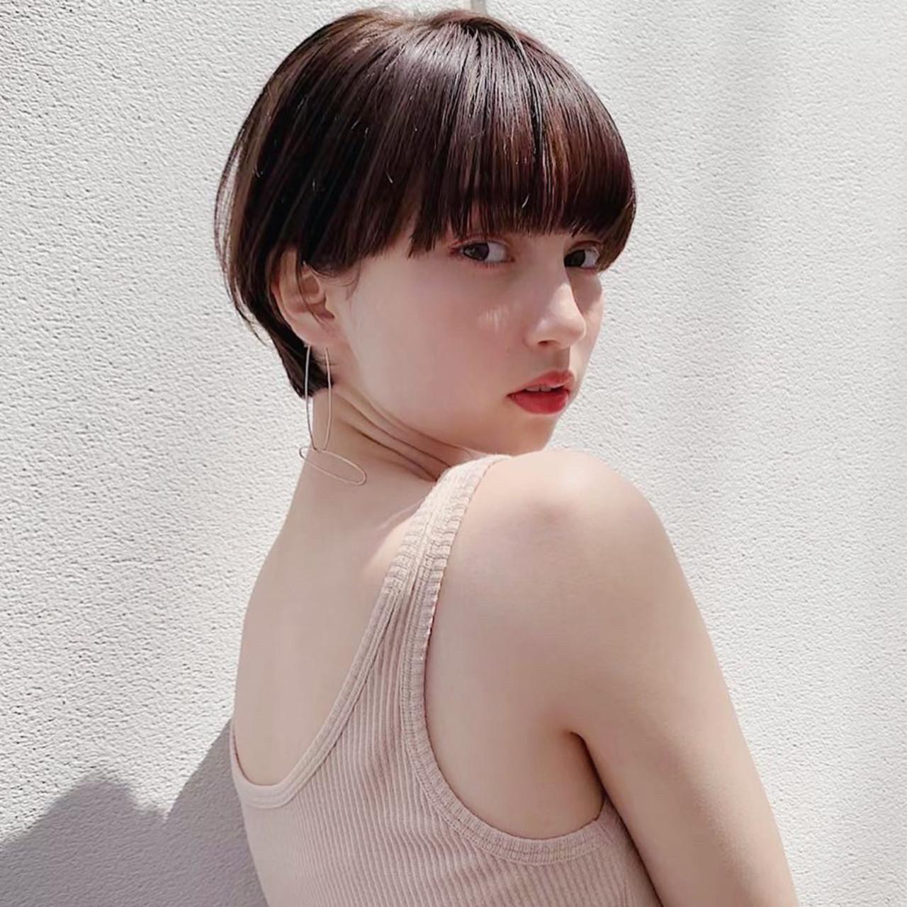 ショート 大人女子 アンニュイ デート ヘアスタイルや髪型の写真・画像