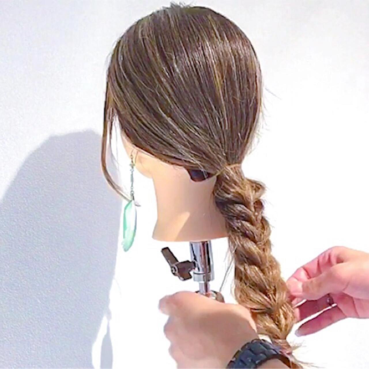 簡単ヘアアレンジ ロング フェミニン 女子会 ヘアスタイルや髪型の写真・画像