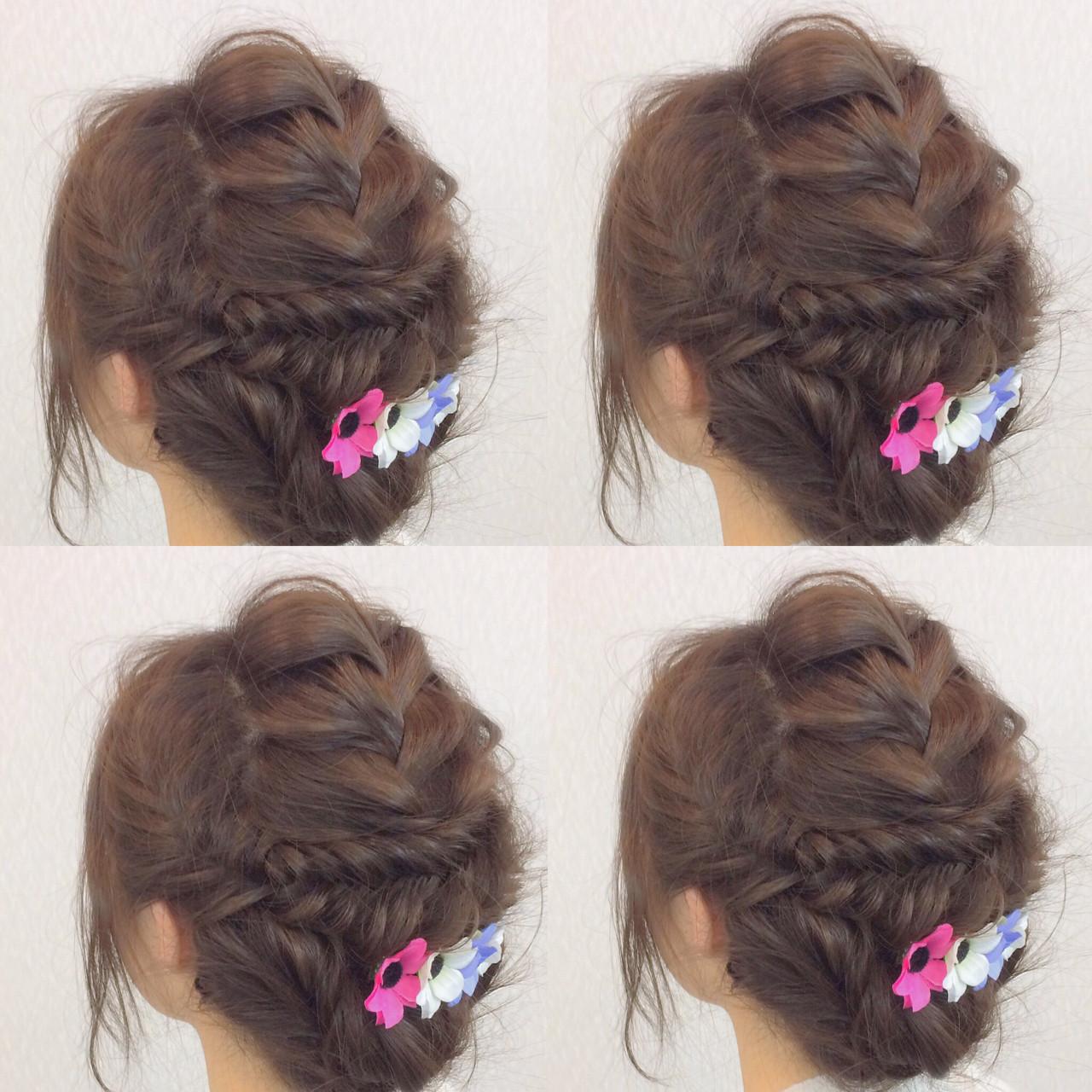 簡単ヘアアレンジ ヘアアレンジ 結婚式 大人女子 ヘアスタイルや髪型の写真・画像