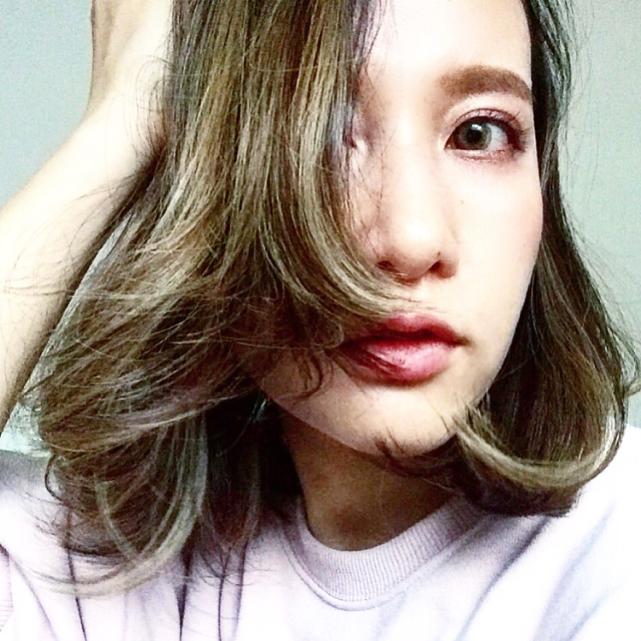 ダブルカラー アッシュグレージュ 外国人風カラー ボブ ヘアスタイルや髪型の写真・画像