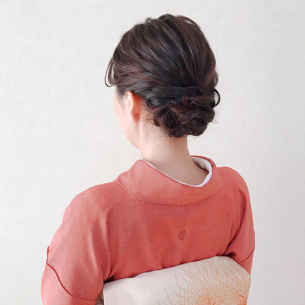 パーティ ヘアアレンジ 和装 ミディアム ヘアスタイルや髪型の写真・画像 | Moriyama Mami / 福岡天神ヘアセット・着付け専門店【Three-keys】