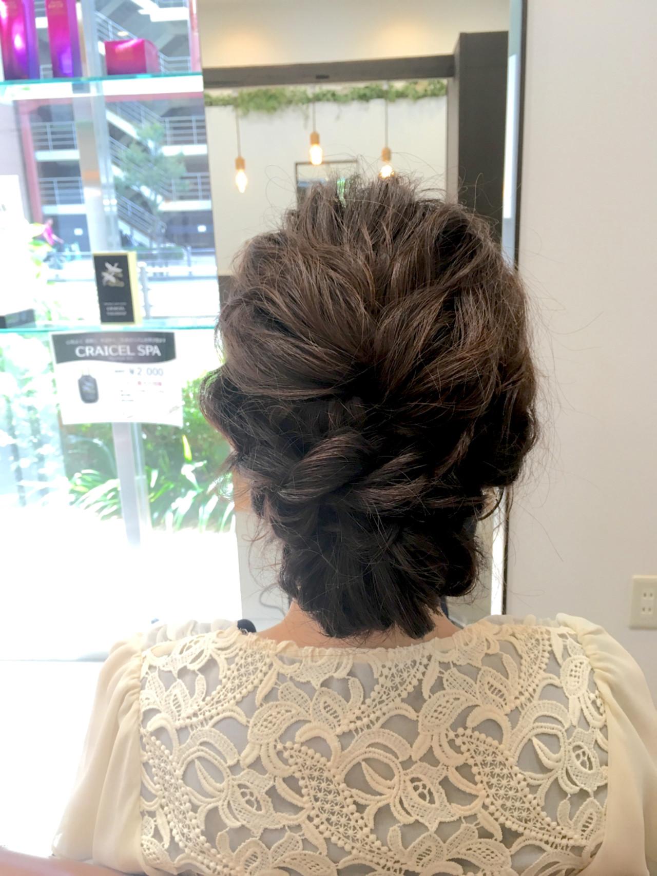 編み込み ゆるふわ ラフ ロング ヘアスタイルや髪型の写真・画像 | 大谷 伶美 / brace / soin de brace
