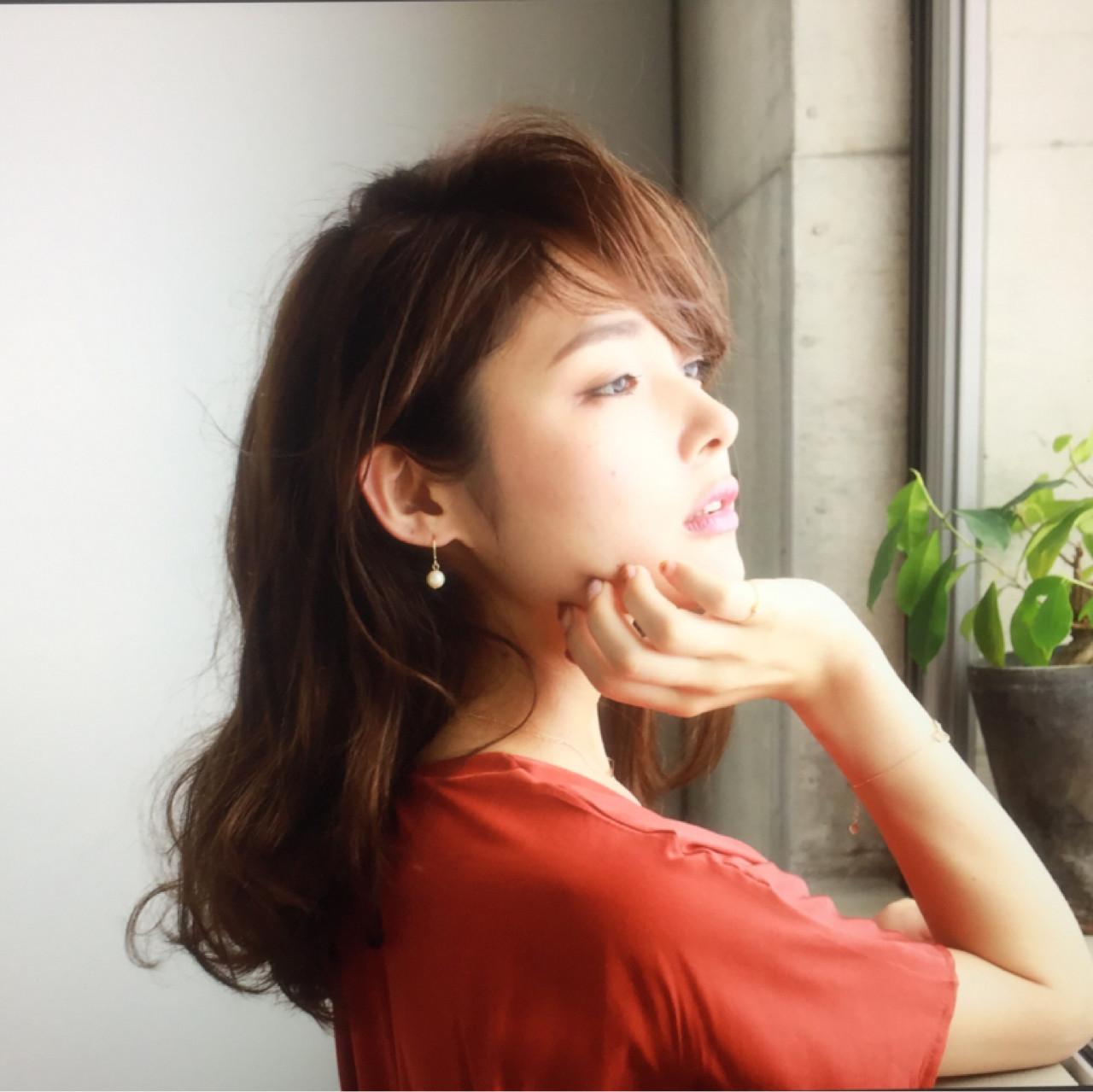 色気 ゆるふわ ナチュラル フェミニン ヘアスタイルや髪型の写真・画像 | 石川 琴允 /