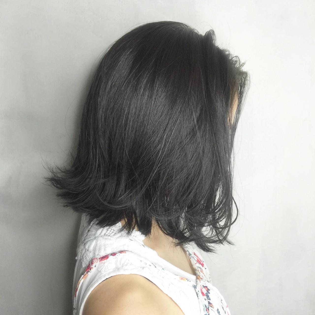 ストリート 黒髪 グラデーションカラー アッシュ ヘアスタイルや髪型の写真・画像   Nobu / ALBUM