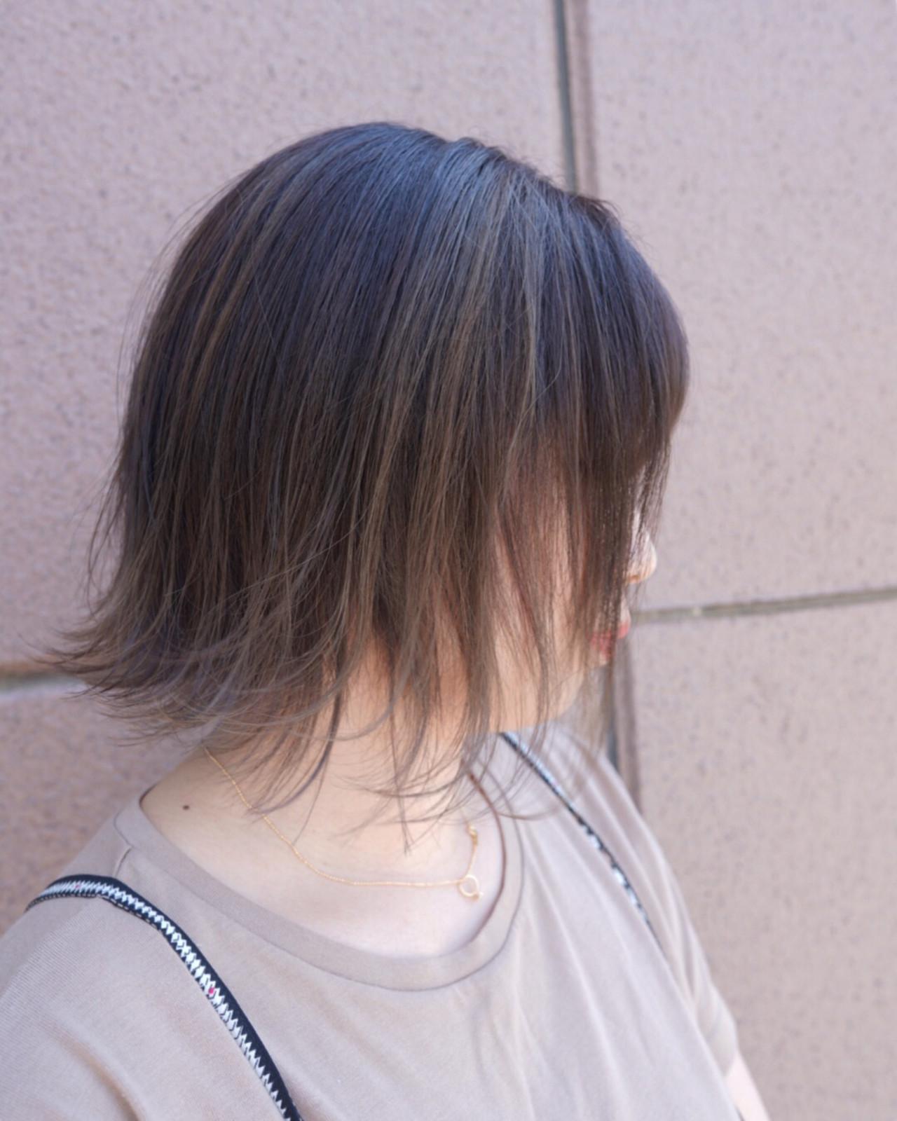 グラデーションカラー 学生 ボブ ストリート ヘアスタイルや髪型の写真・画像 | 今西優 / scissors