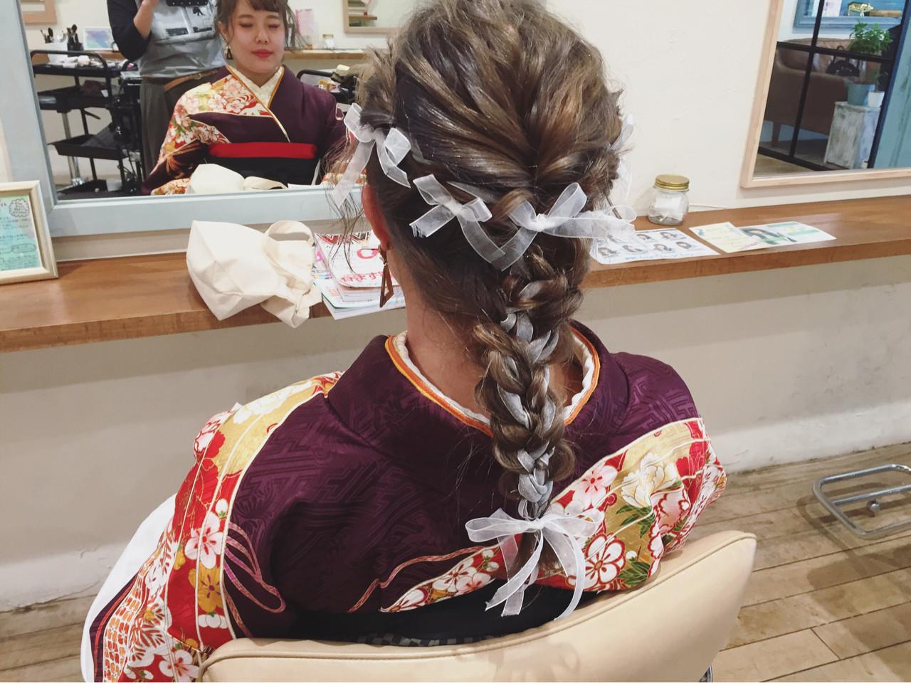 簡単ヘアアレンジ ヘアアレンジ フェミニン ロング ヘアスタイルや髪型の写真・画像