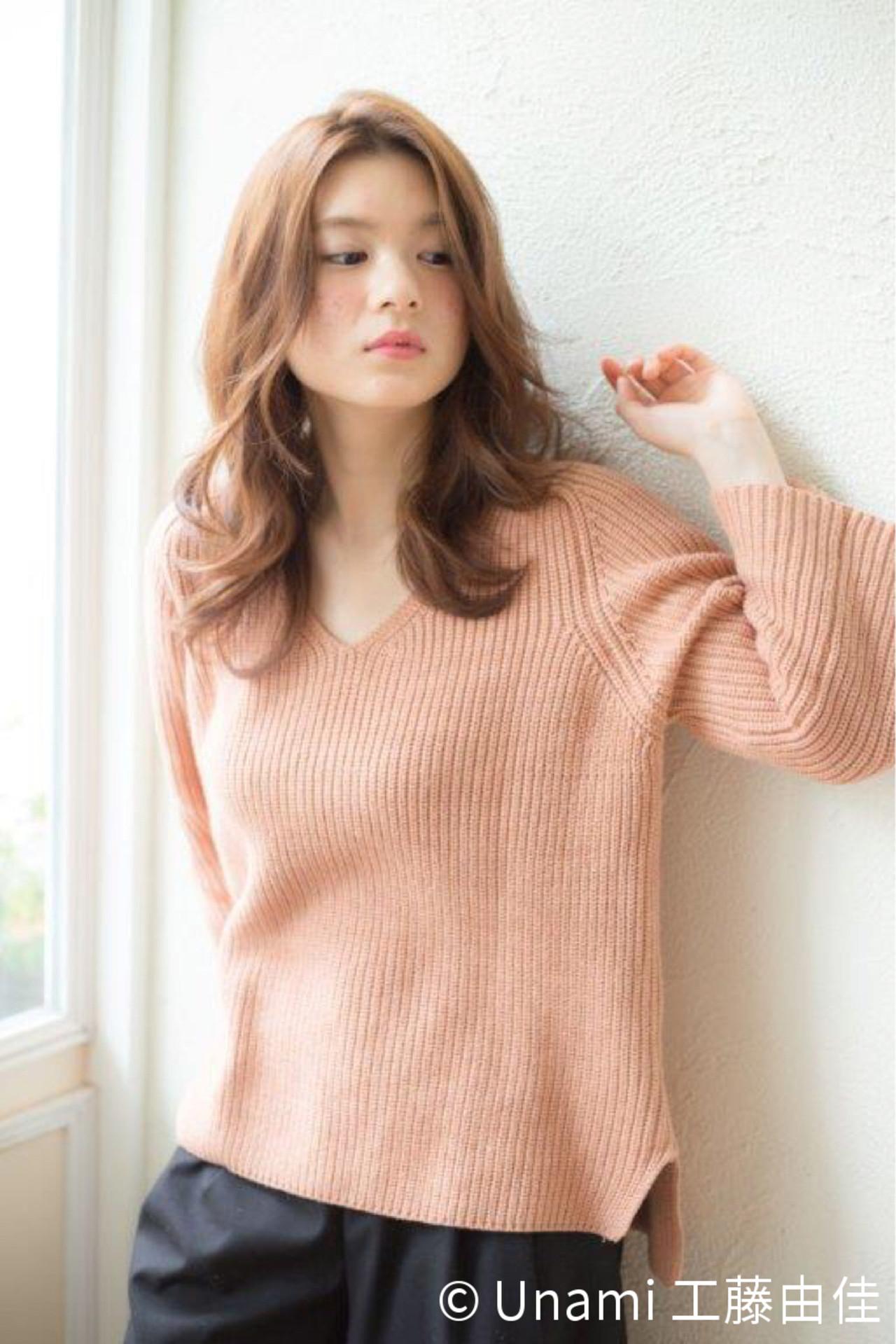 愛され ミディアム パーマ 夏 ヘアスタイルや髪型の写真・画像 | Unami 工藤由佳 / Unami omotesando