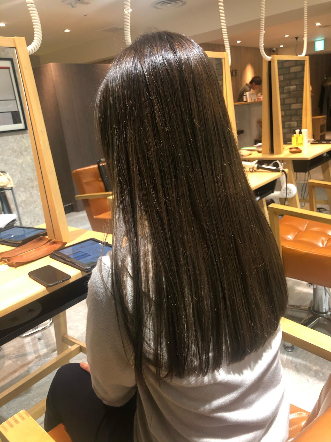 ツヤ髪 透明感カラー イルミナカラー ストレート ヘアスタイルや髪型の写真・画像 | 奥野 和広 / TERRACE LUXBE