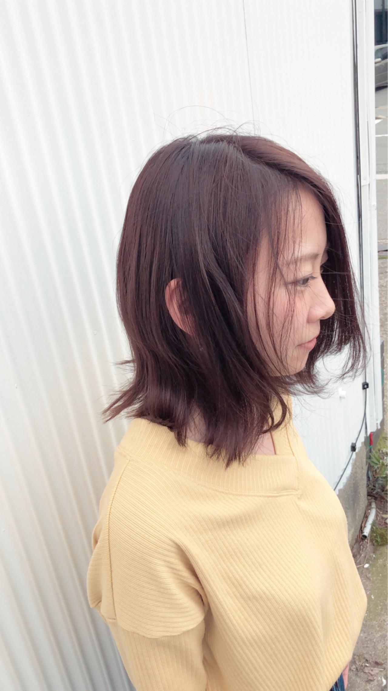 ロブ 簡単ヘアアレンジ ヘアアレンジ 成人式 ヘアスタイルや髪型の写真・画像 | 大西 つねお /  ELMO