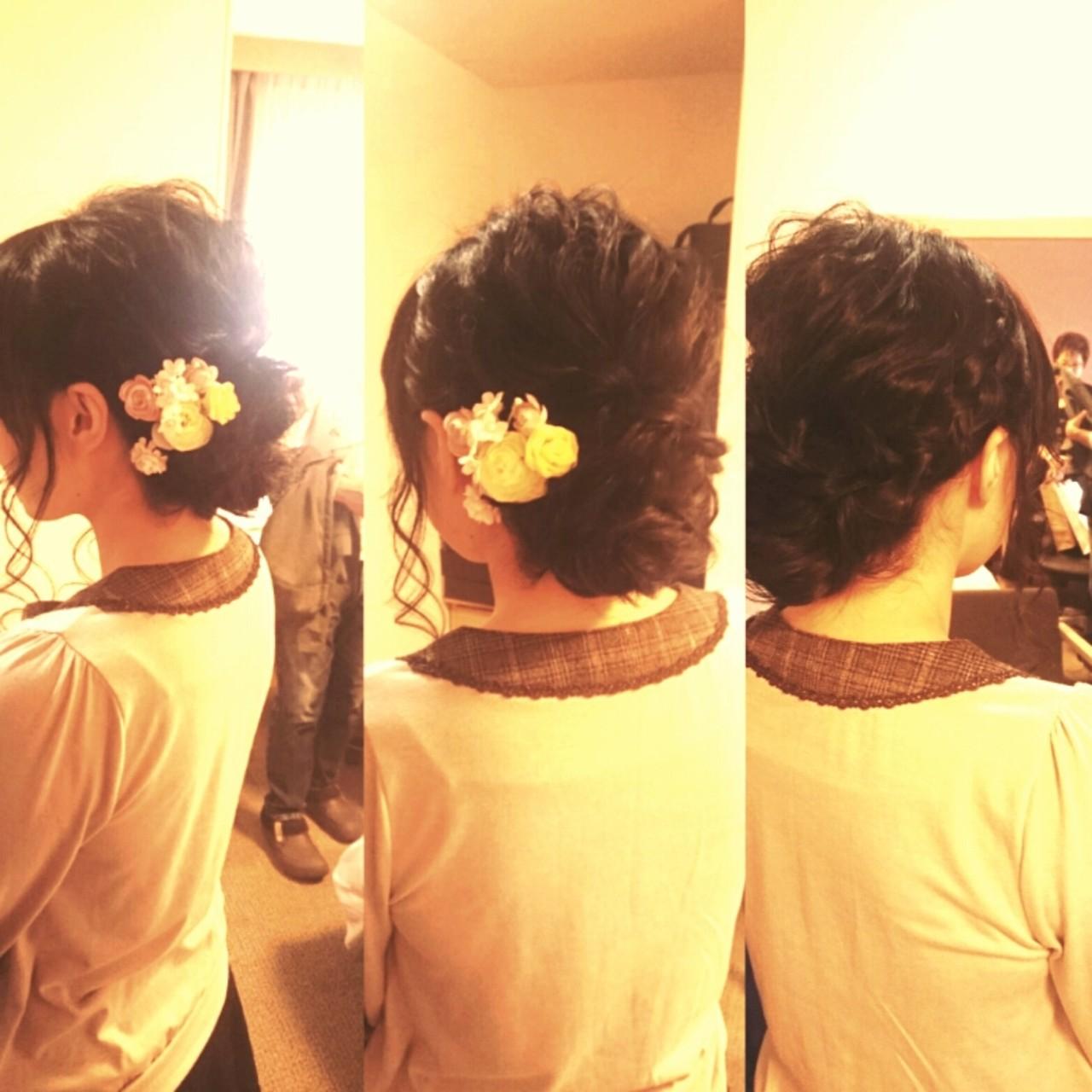 ゆるふわ 結婚式 ブライダル ロング ヘアスタイルや髪型の写真・画像