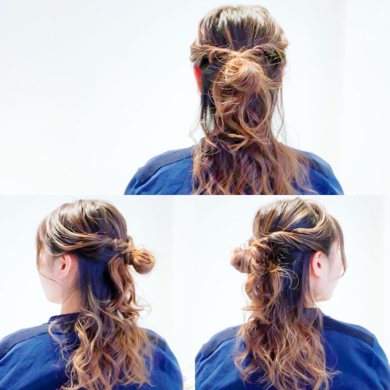デート ロング ヘアアレンジ オフィス ヘアスタイルや髪型の写真・画像 | 美容師HIRO/Amoute代表 / Amoute/アムティ