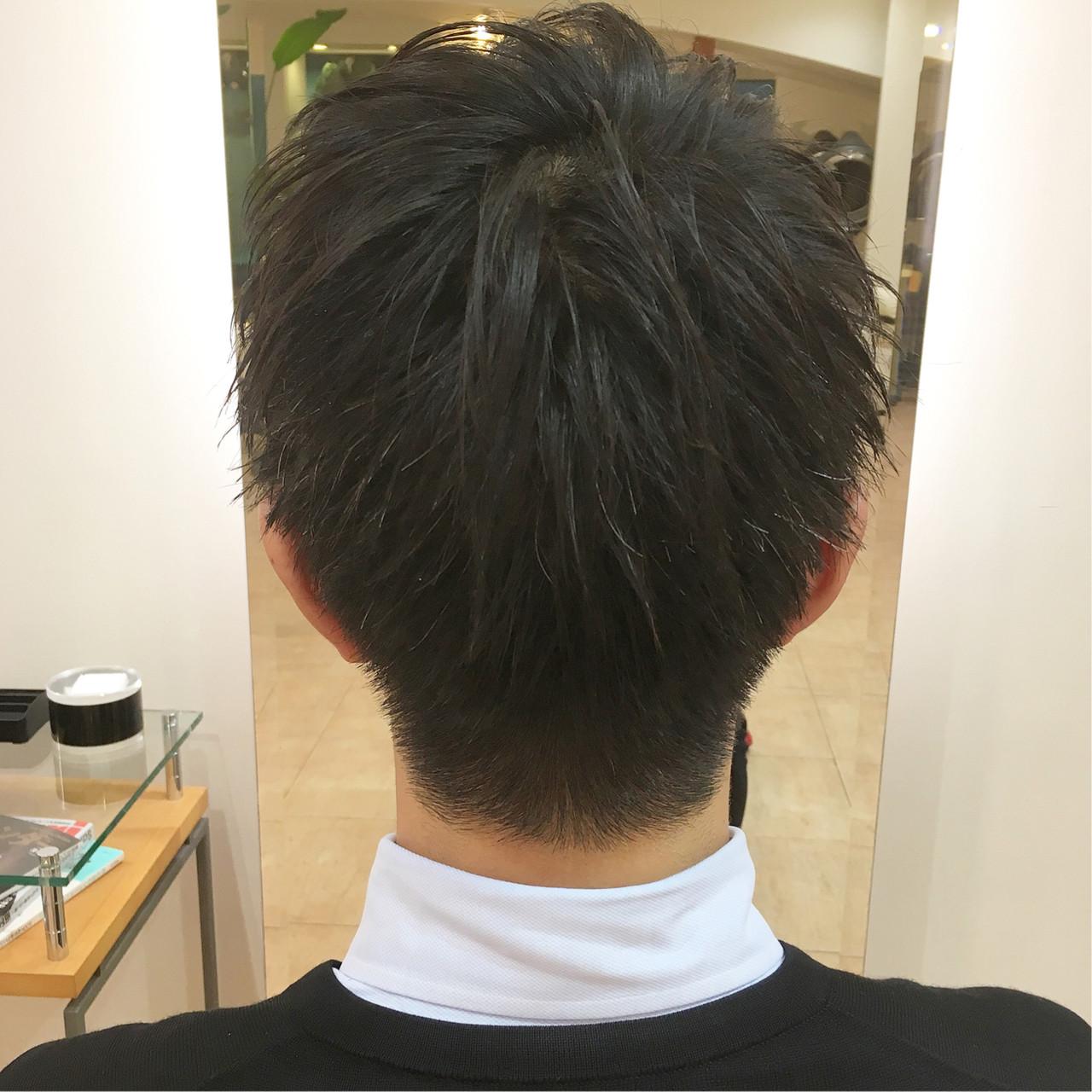 ナチュラル メンズカット 束感 刈り上げショート ヘアスタイルや髪型の写真・画像