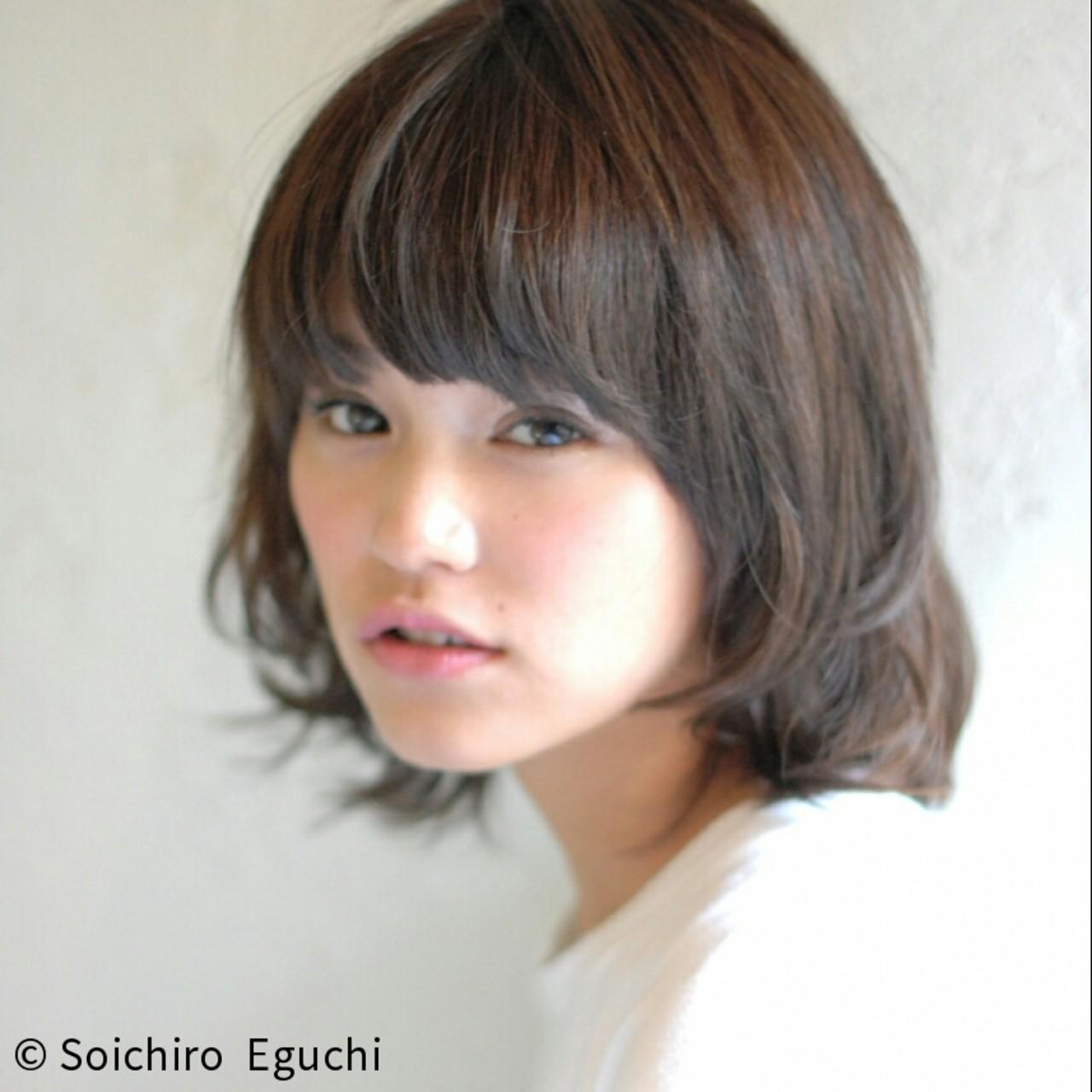 暗髪 ガーリー ボブ 前髪あり ヘアスタイルや髪型の写真・画像   Soichiro Eguchi / La familia(原宿) Bonita by Lafamilia(横浜元町)
