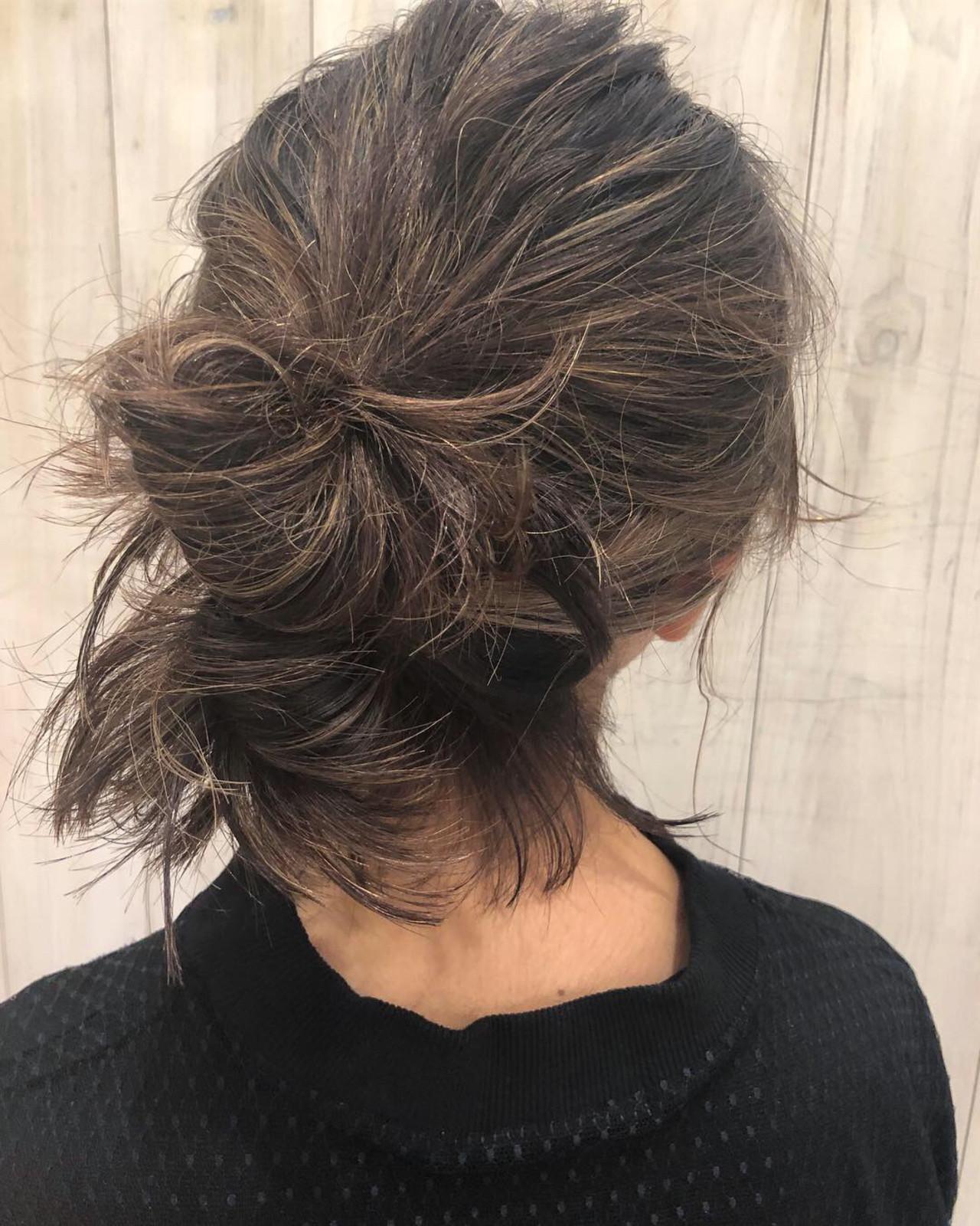 簡単ヘアアレンジ ミディアム アンニュイほつれヘア デート ヘアスタイルや髪型の写真・画像 | 銀座美容師 河野絵奈 / kakimotoamsGINZA2chome店